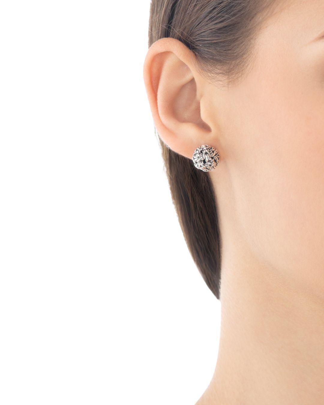 11986db1f John Hardy Classic Chain Silver Knot Stud Earrings in Metallic - Save 1% -  Lyst