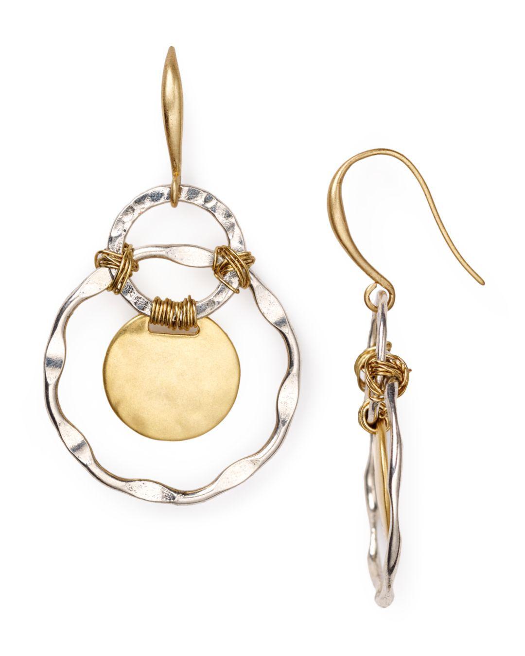 015664c88 Lyst - Robert Lee Morris Two Tone Orbital Earrings in Metallic