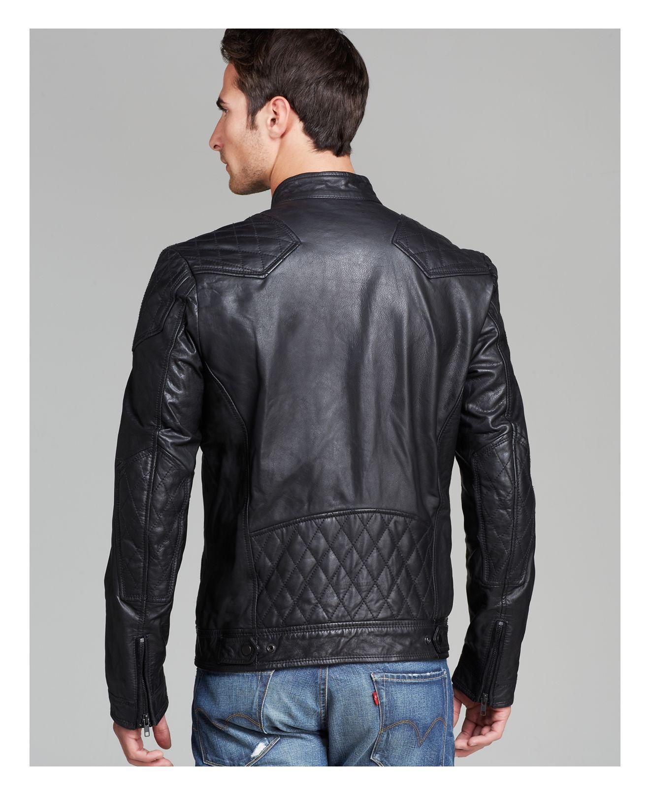 Lyst Diesel Laleta Leather Jacket In Black For Men