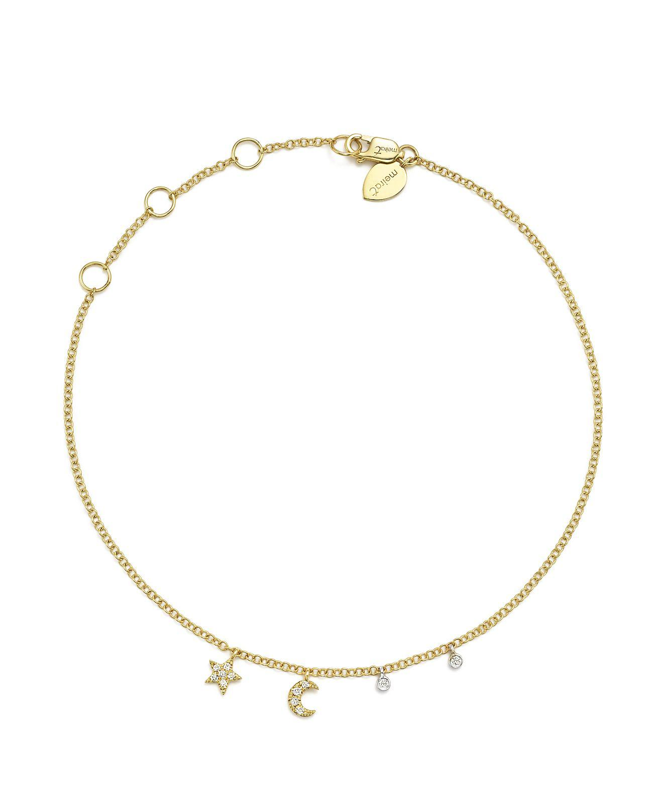charms yellow charm itty gold anklet bracelets women jewelry s with bracelet zoe chicco bitty metallic ankle lyst star