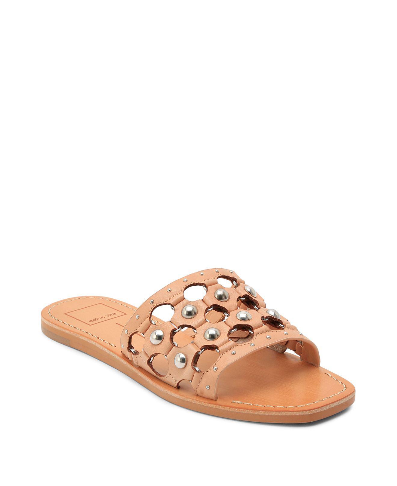 Dolce Vita Women's Celita Perforated Studded Slide Sandal bSCGo