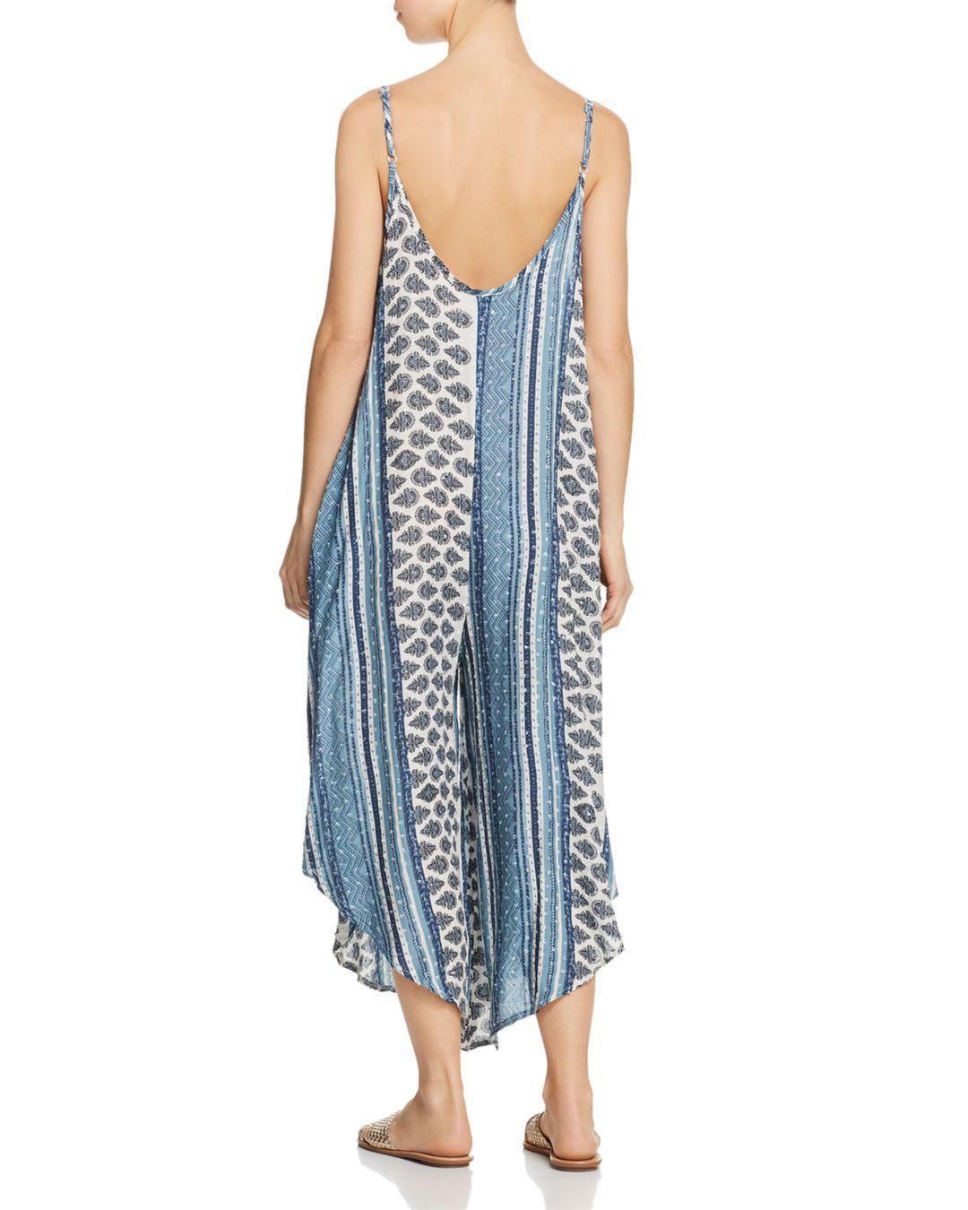 209cb28a71 Lyst - J Valdi Topanga Flowy Jumpsuit Swim Cover-up in Blue