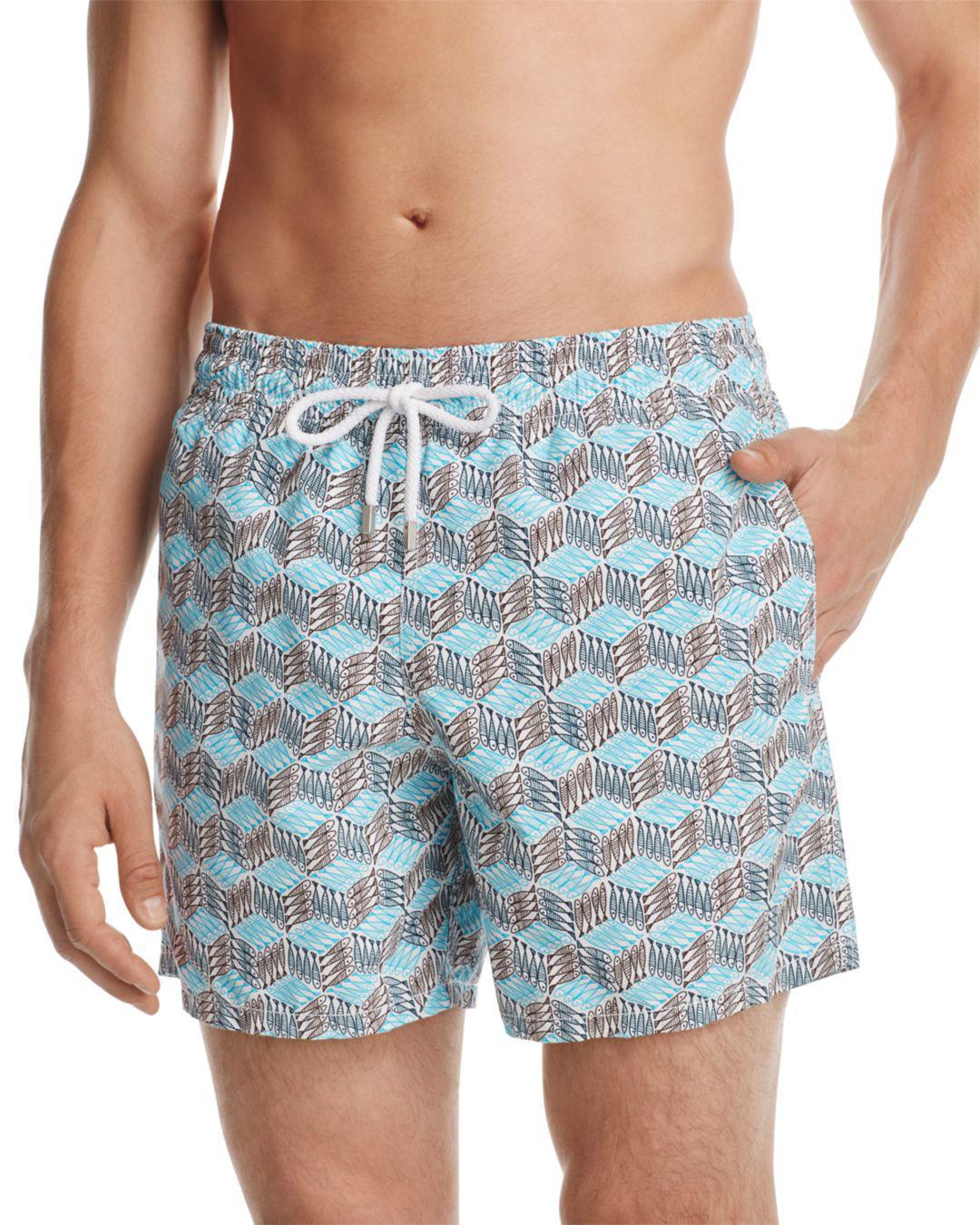 1bbeaa887d261 Vilebrequin Moorea Swim Trunks in Blue for Men - Lyst