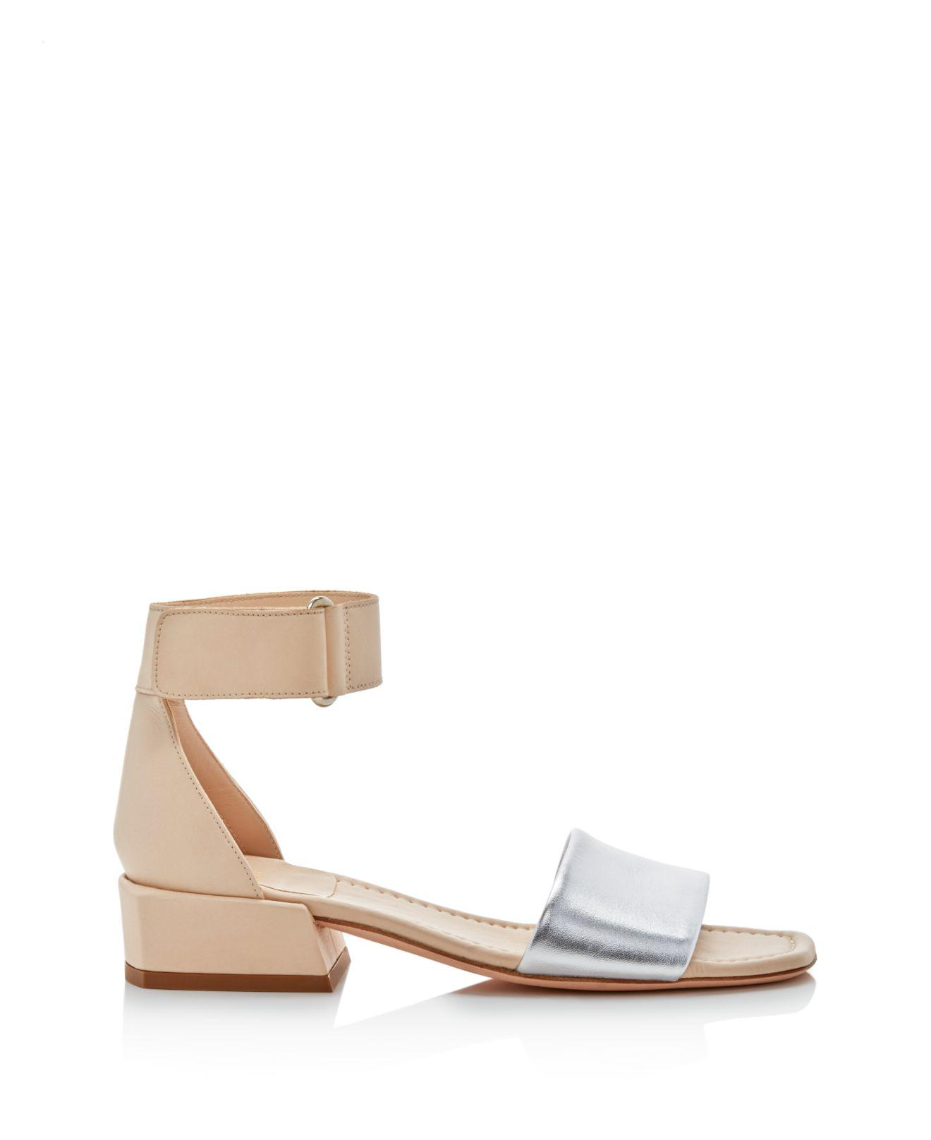 Stuart Weitzman Women's Oneway Leather Color-Block Sandals OwOCdhd2