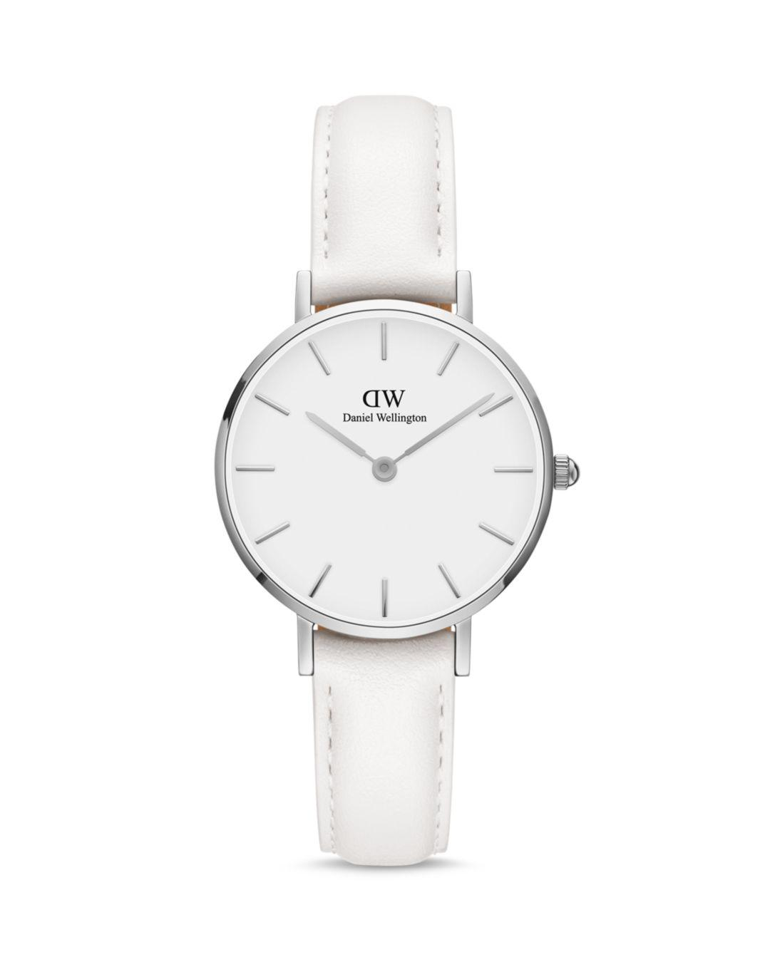 0ed29e91b5e8 Daniel Wellington - Silver  classic Petite Bondi  White Leather Strap 32mm  Watch for Men. View fullscreen