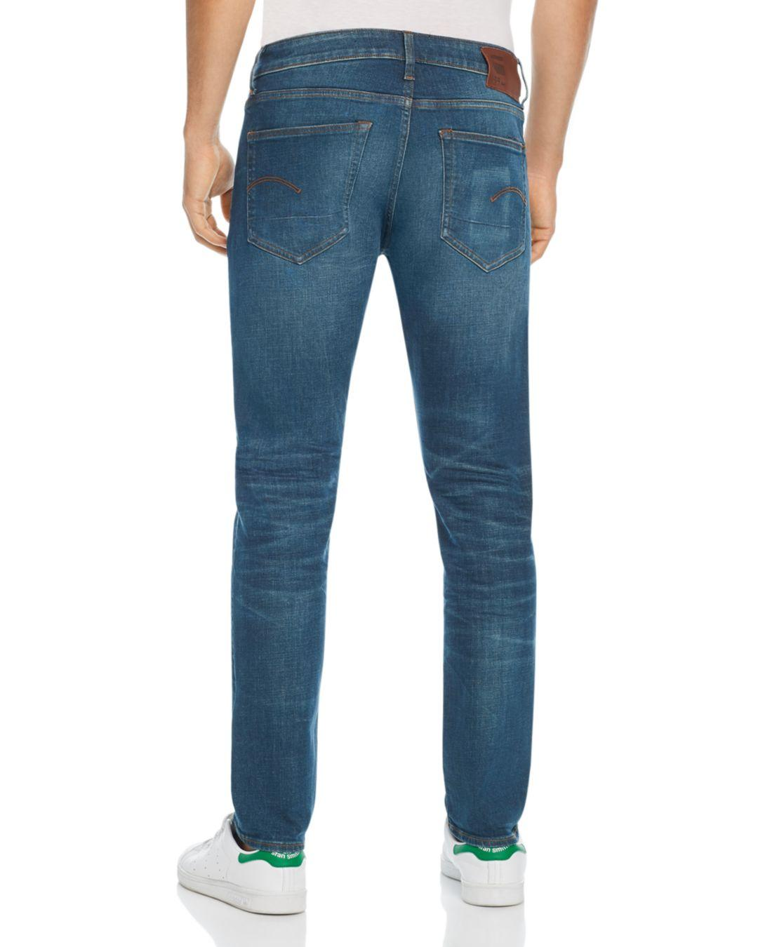 70c8aac2043 G-Star RAW G - Star Raw 3301 Slim Fit Jeans In Medium Aged in Blue for Men  - Lyst