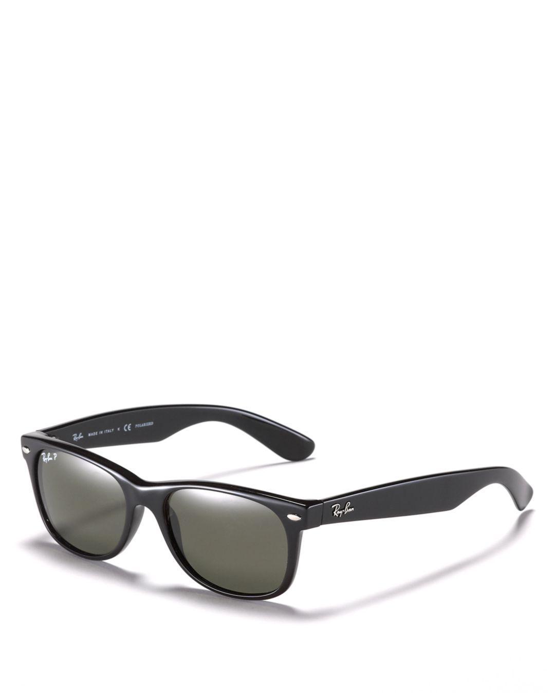 b015f55362 Lyst - Ray-Ban New Wayfarer Polarized Sunglasses in Black