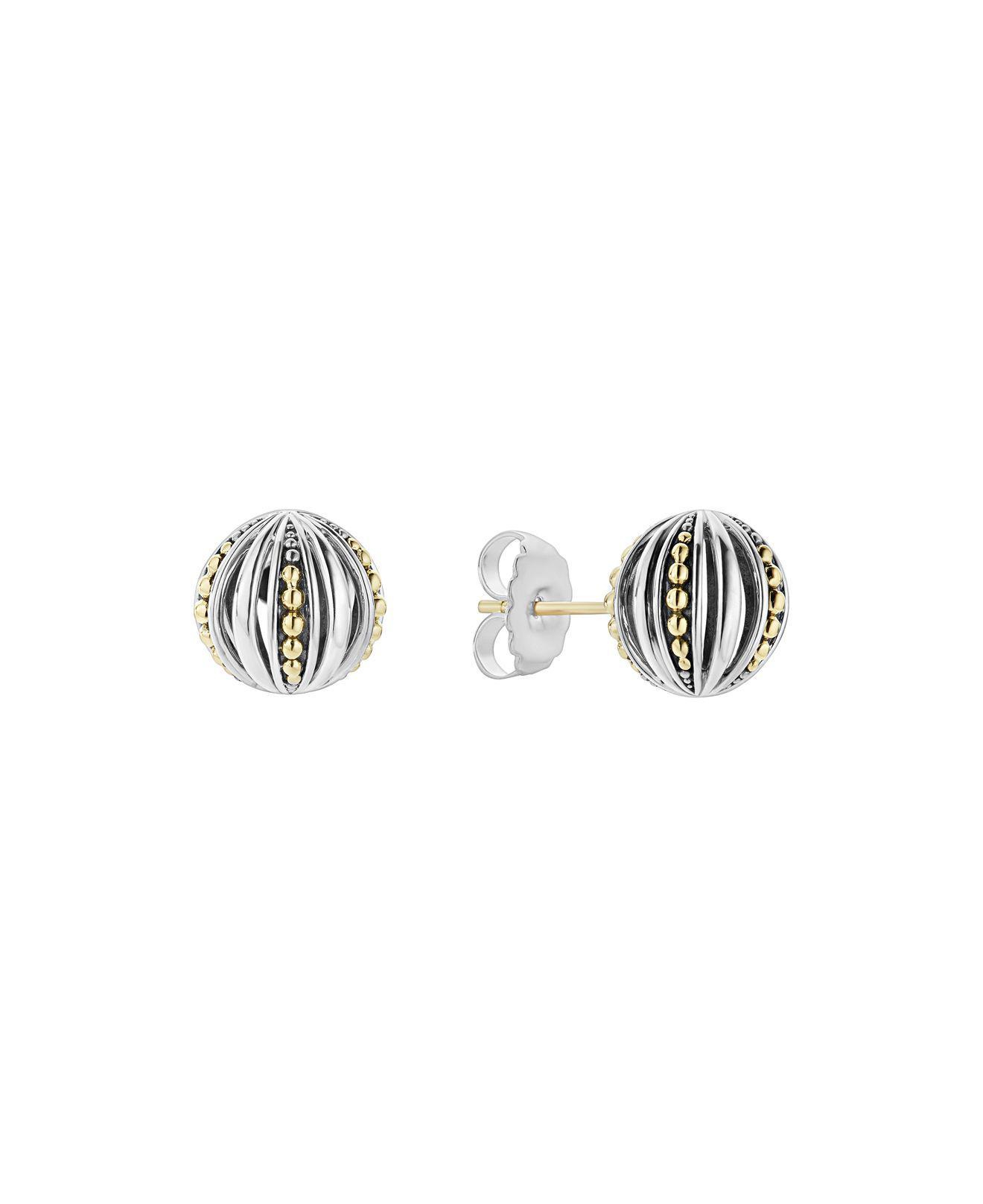 Lagos Caviar Talisman Woven Knot Stud Earrings JW3beSSEn