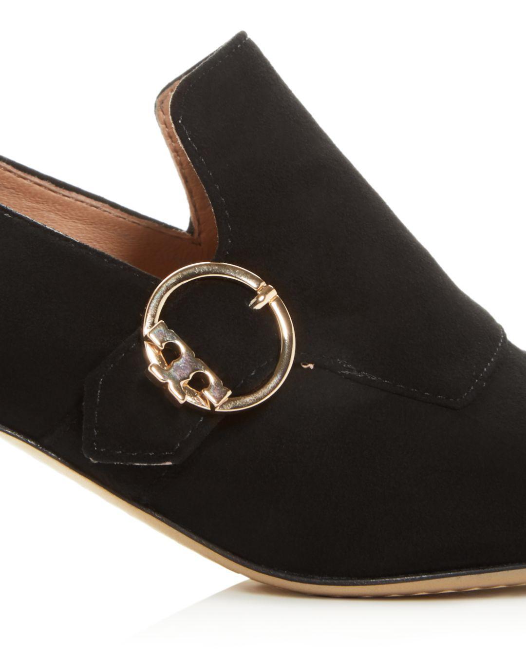 aa38ca739a5 Lyst - Tory Burch Women s Tess Block-heel Loafers in Black