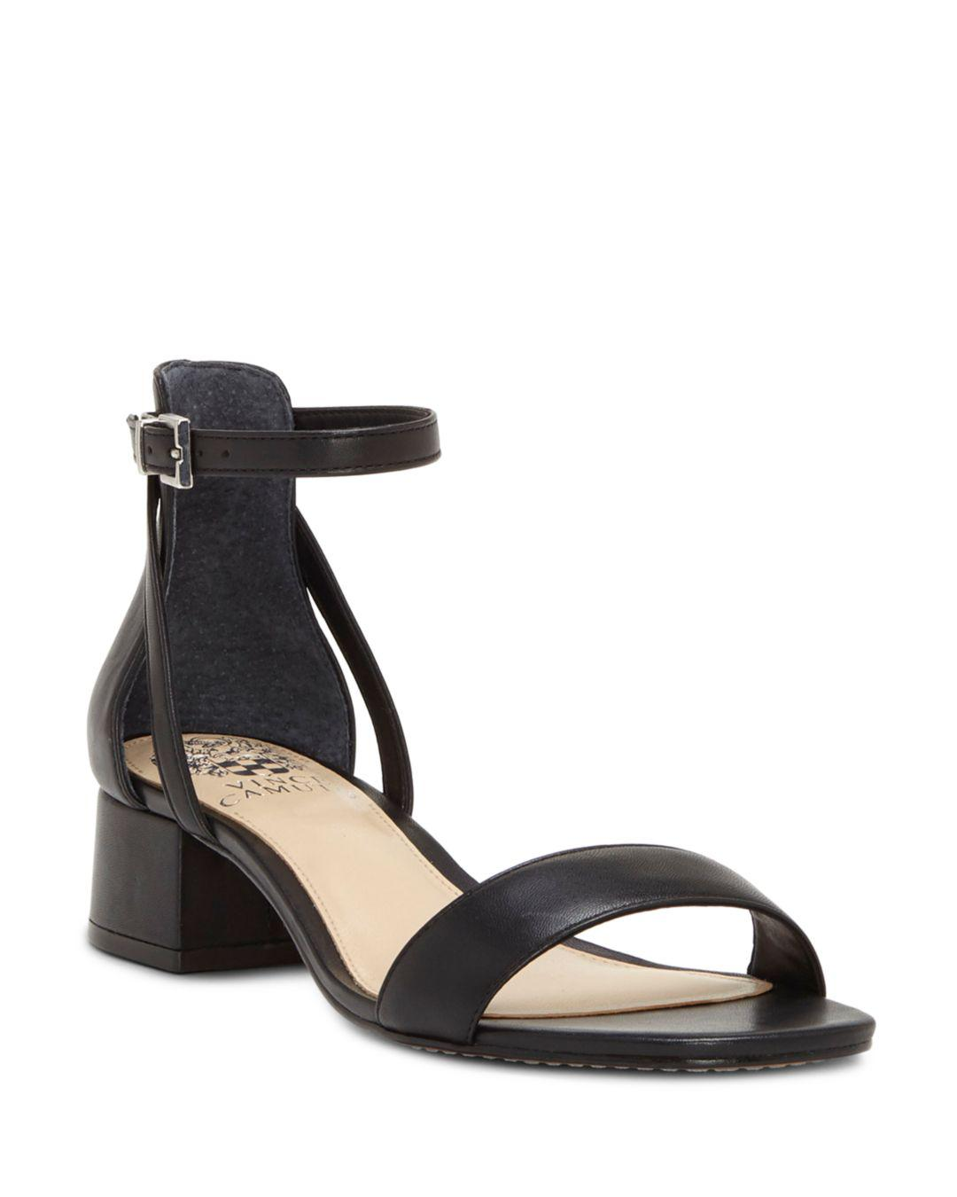 0ca75ccb5c Vince Camuto Shetana Block-heel Dress Sandals in Black - Lyst
