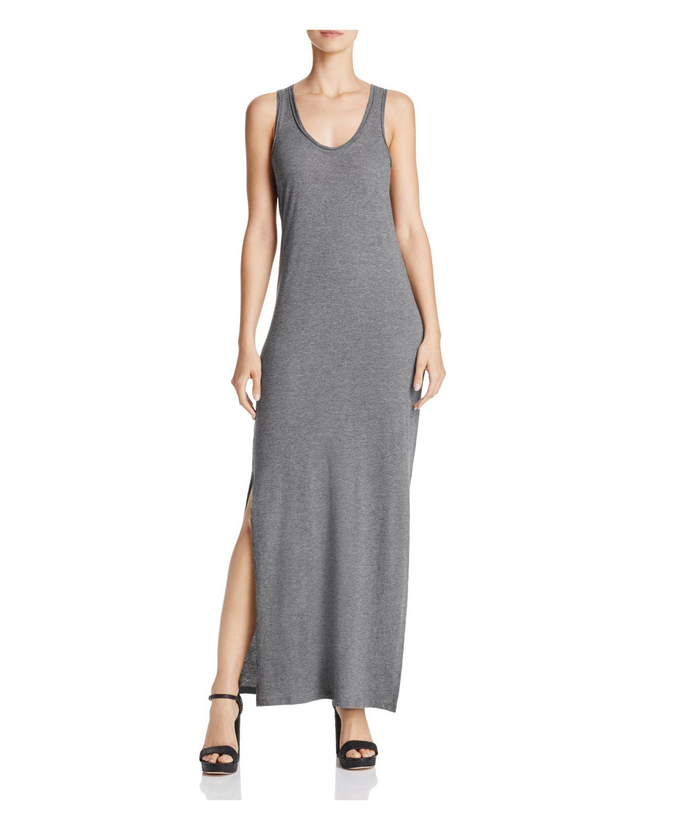 4d1606a443e Theory Sameetha Plume Jersey Maxi Dress in Gray - Lyst