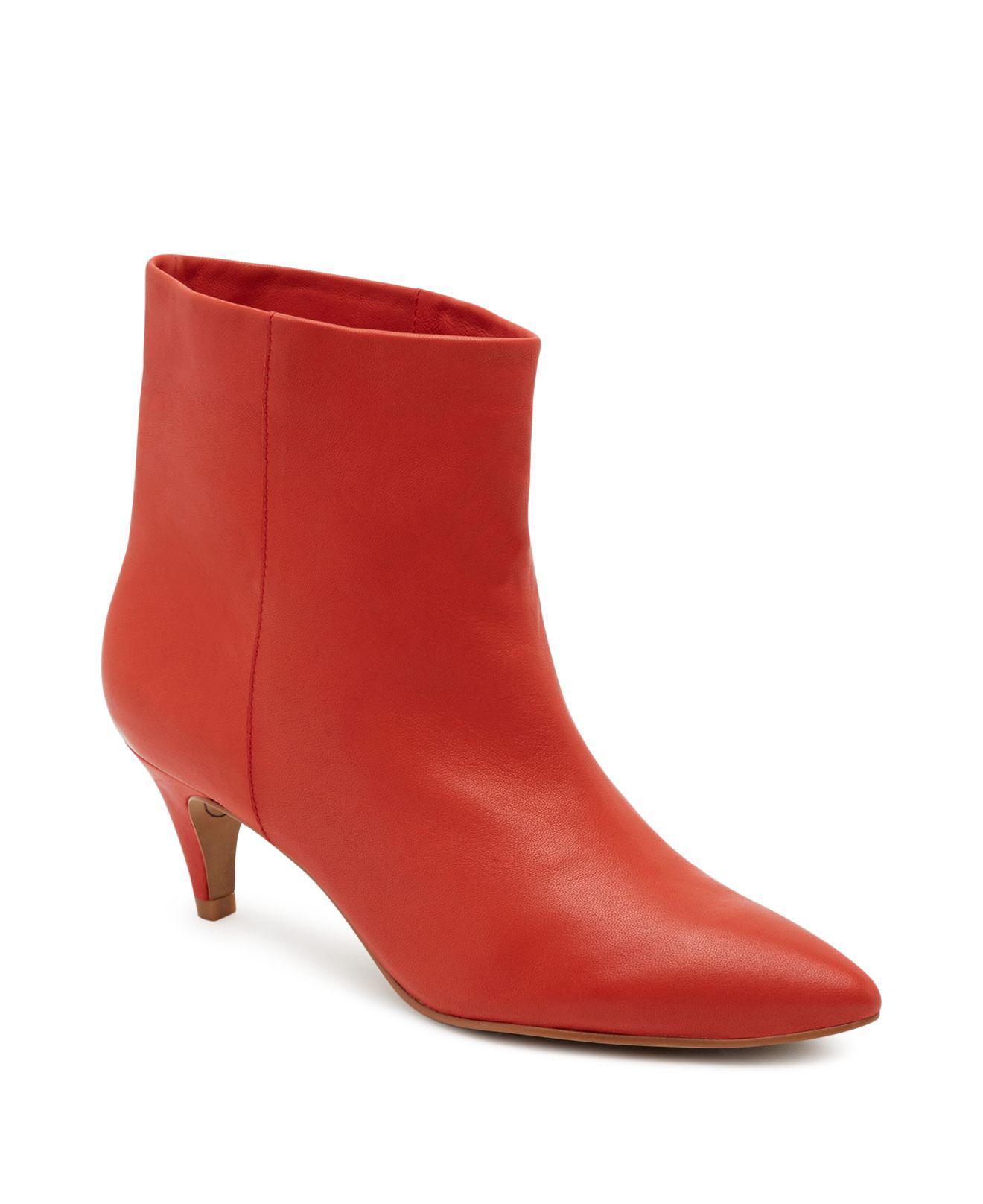 Red Kitten Heel Shoes