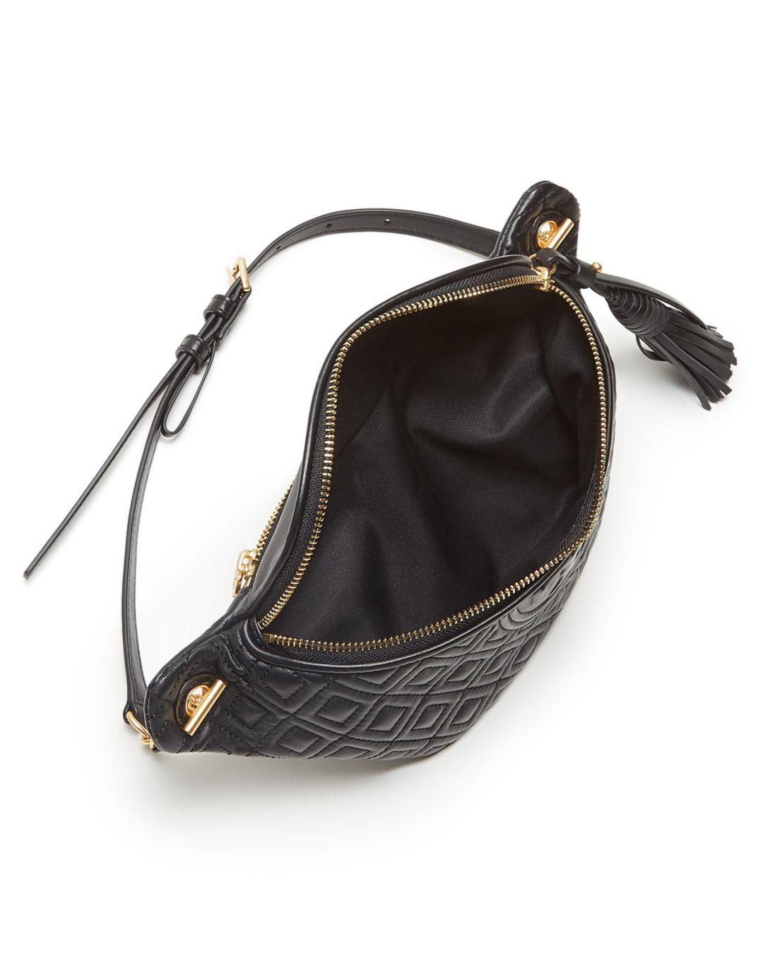 6090a27626a9 Tory Burch - Black Fleming Leather Belt Bag - Lyst. View fullscreen