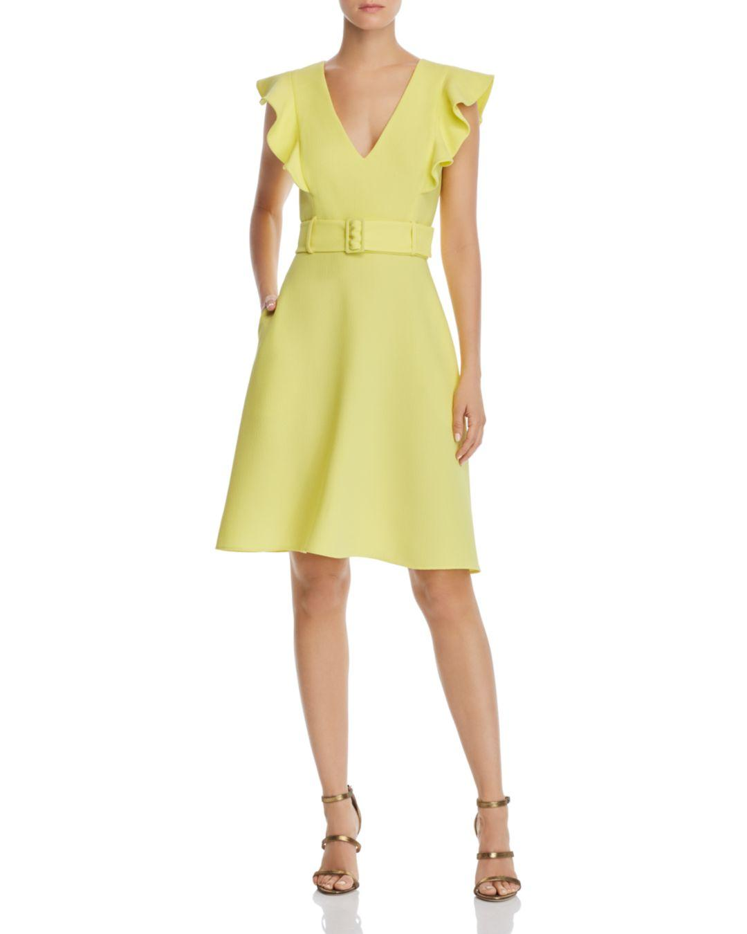 956bd656 Lyst - Black Halo Hailey Belted Dress in Yellow