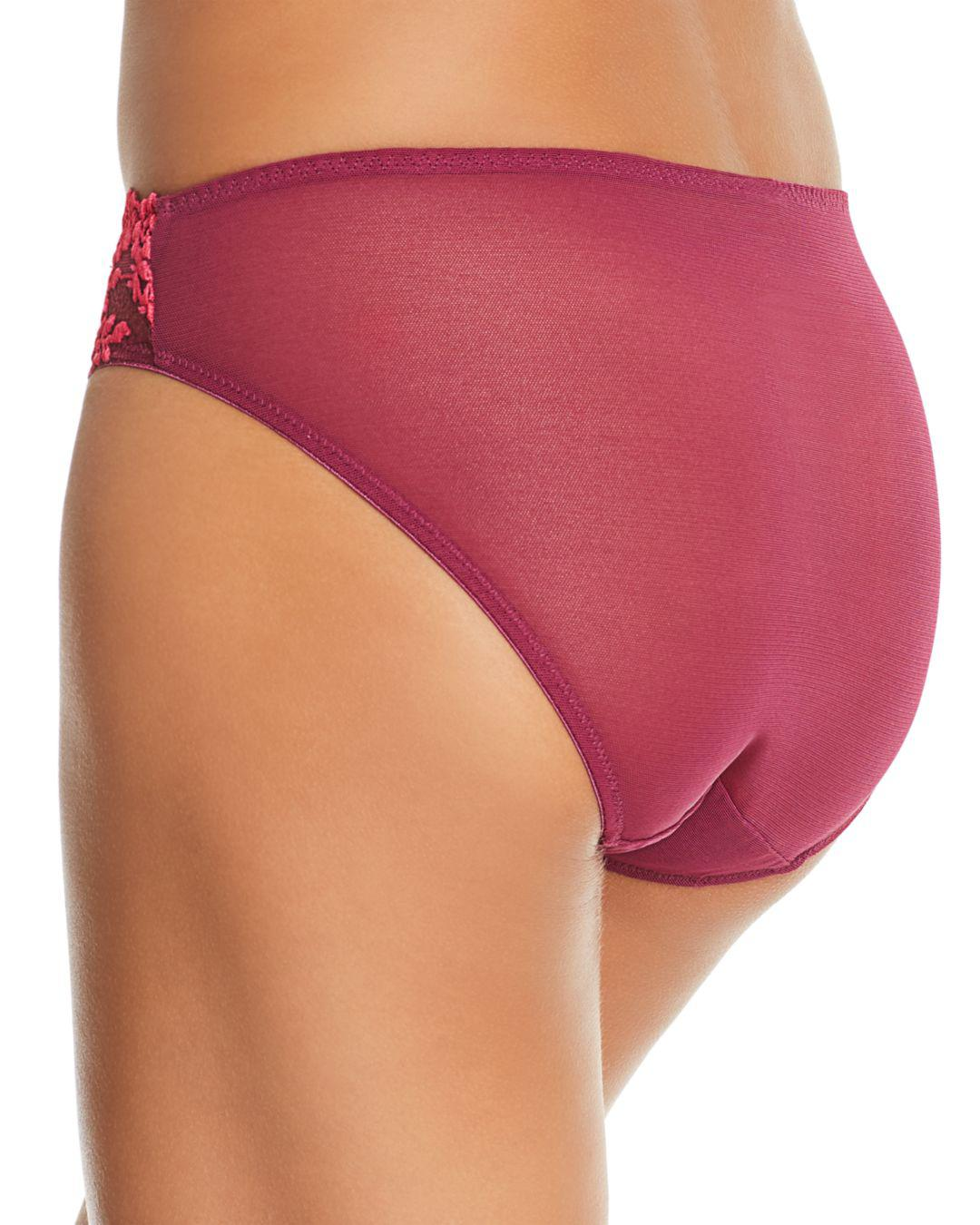 bc7213f94c1d0 Lyst - Wacoal Embrace Lace Bikini in Purple