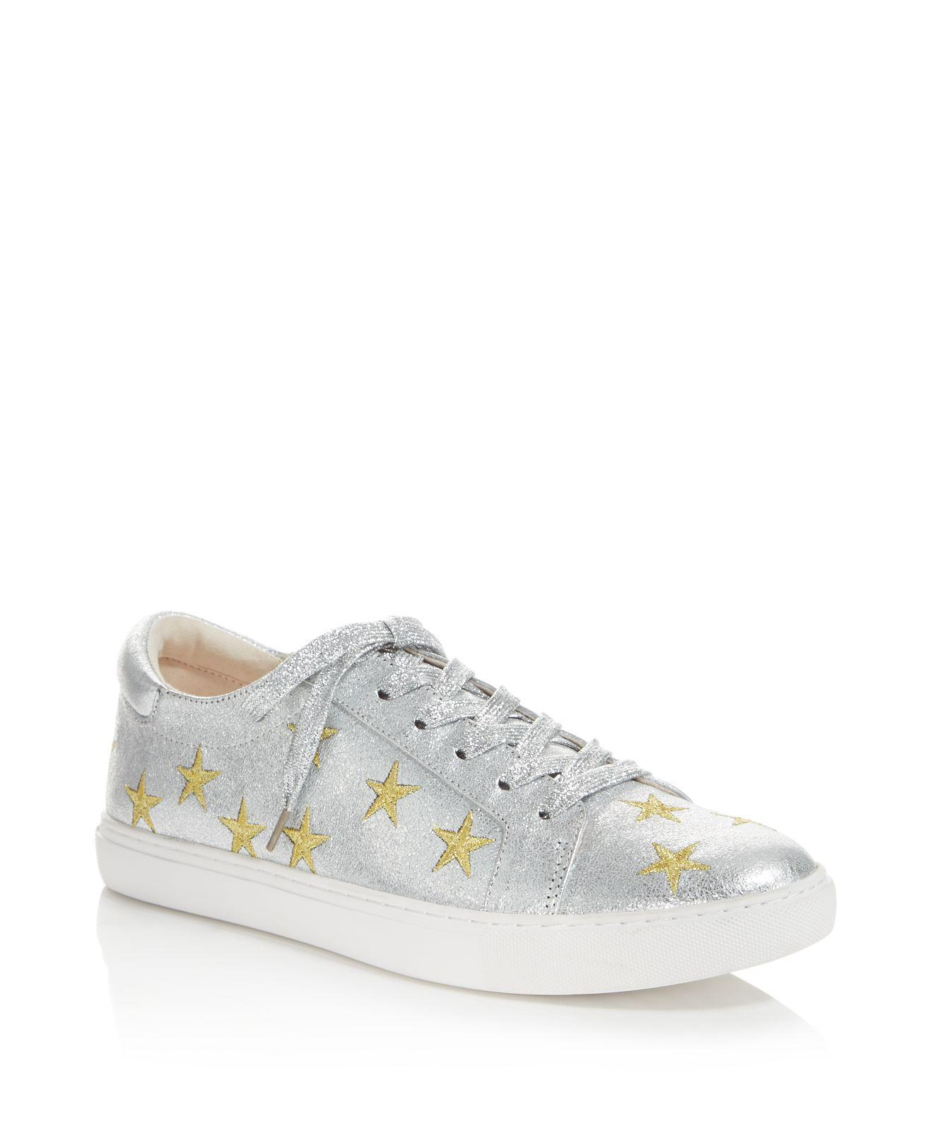 Kenneth Cole. Women's Kam Star Metallic Leather Lace Up Sneakers