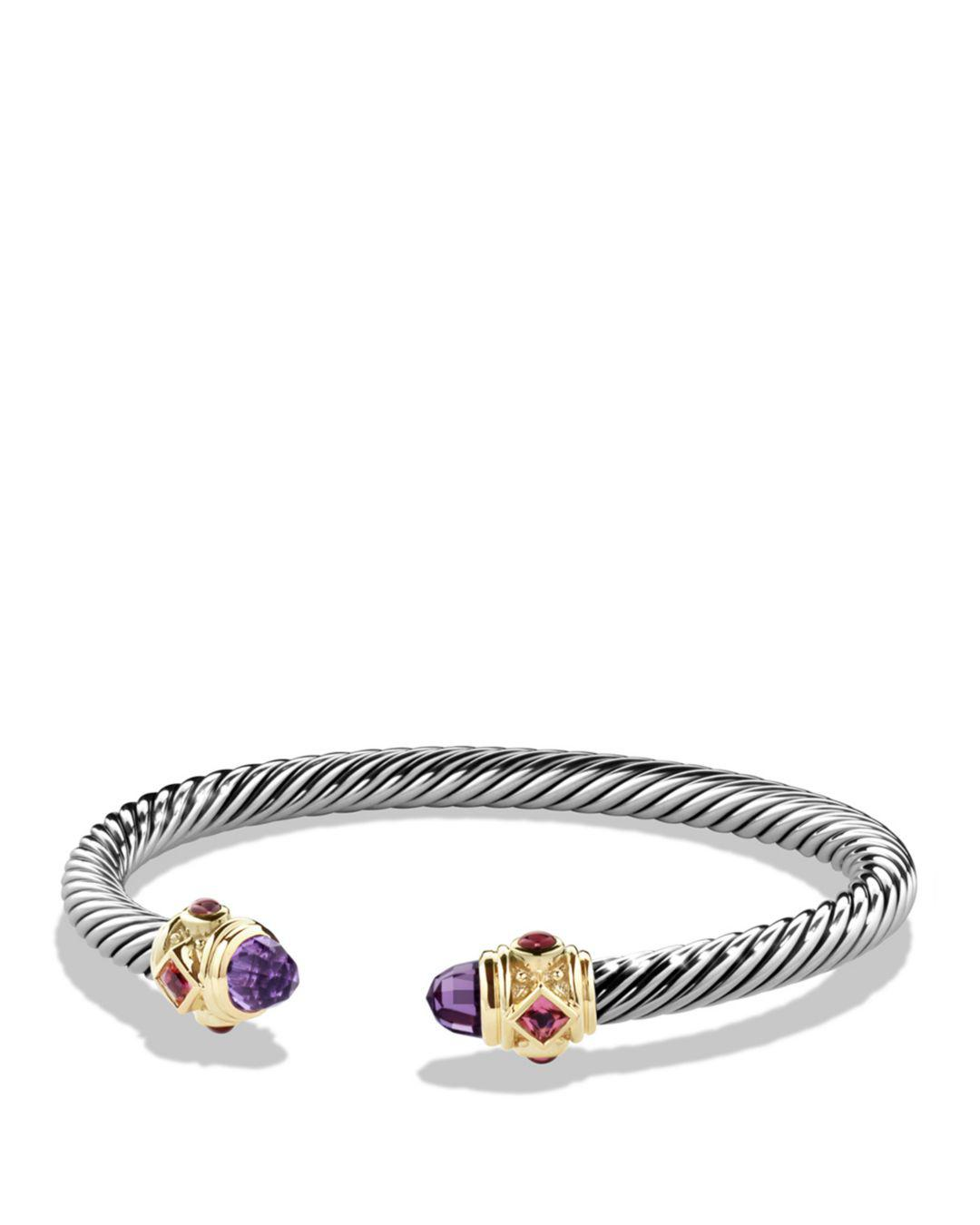 David Yurman Women S Metallic Renaissance Bracelet With Amethyst