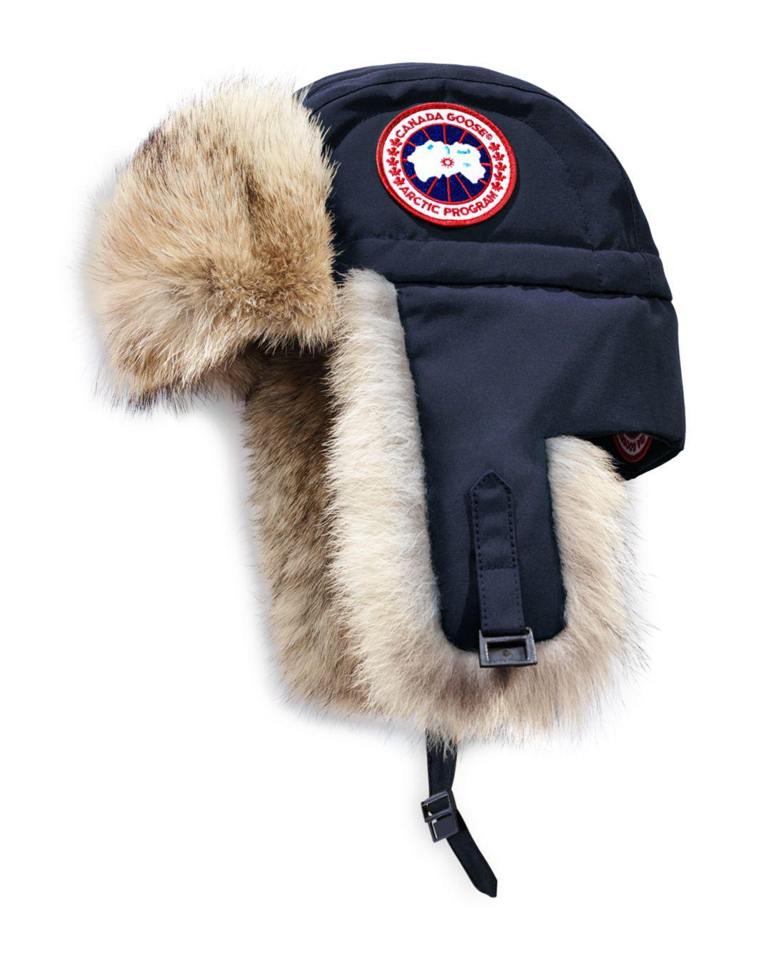 21044718882 Canada Goose Coyote Fur Aviator Hat in Blue for Men - Lyst