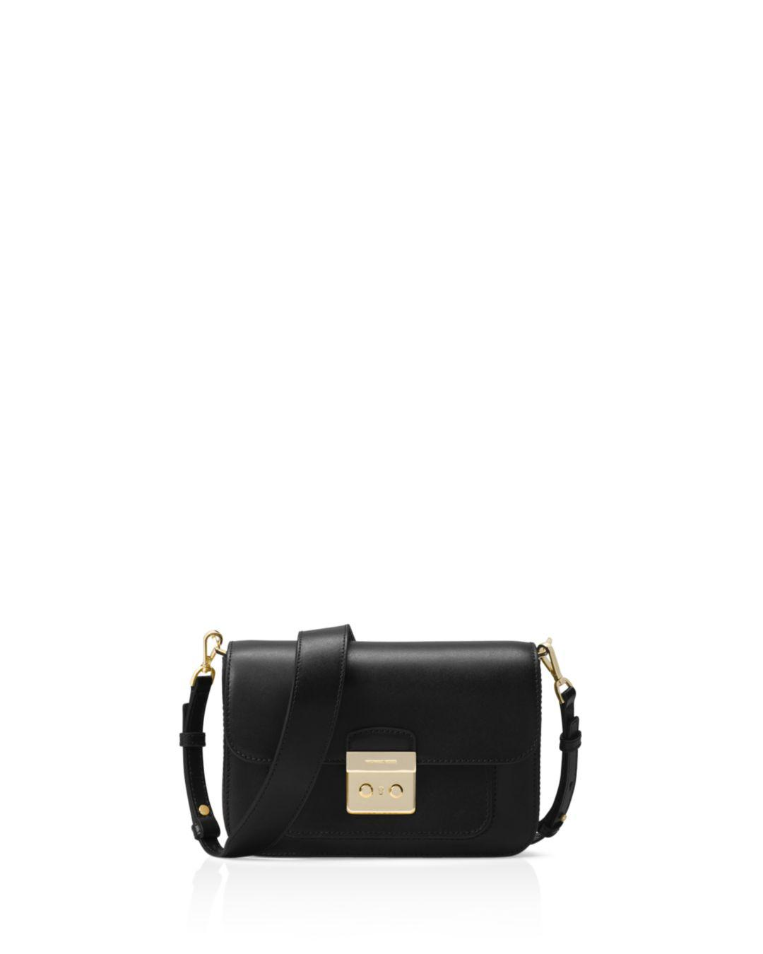 10d99cdfd07c5 Lyst - Michael Kors Sloan Editor Leather Shoulder Bag in Black ...