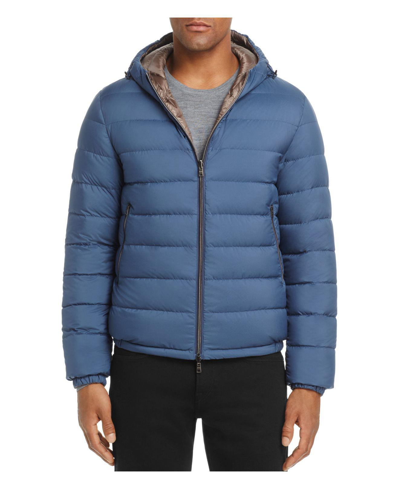 Herno Reversible Hooded Down Jacket In Blue For Men Lyst