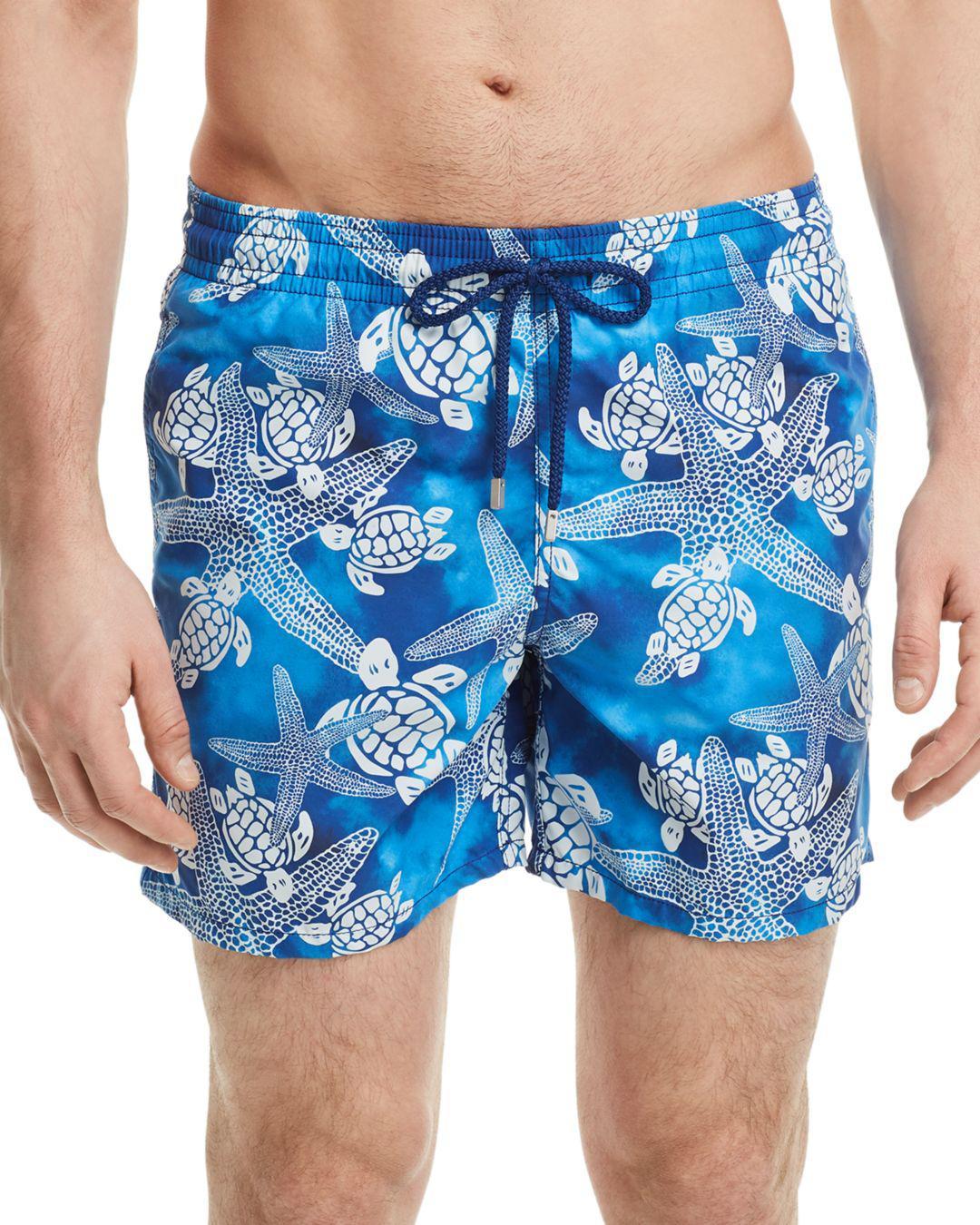 69b0135f12c64 Vilebrequin - Blue Moorea Starfish Swim Trunks for Men - Lyst. View  fullscreen