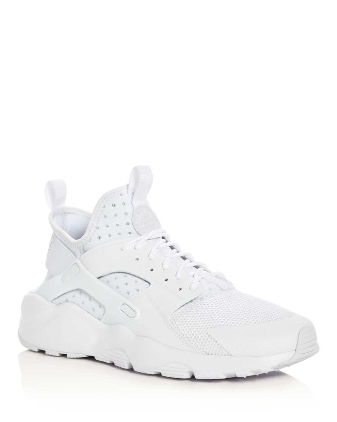 3e772d4d1bc0 Lyst - Nike Men s Air Huarache Run Ultra Lace Up Sneakers in White ...