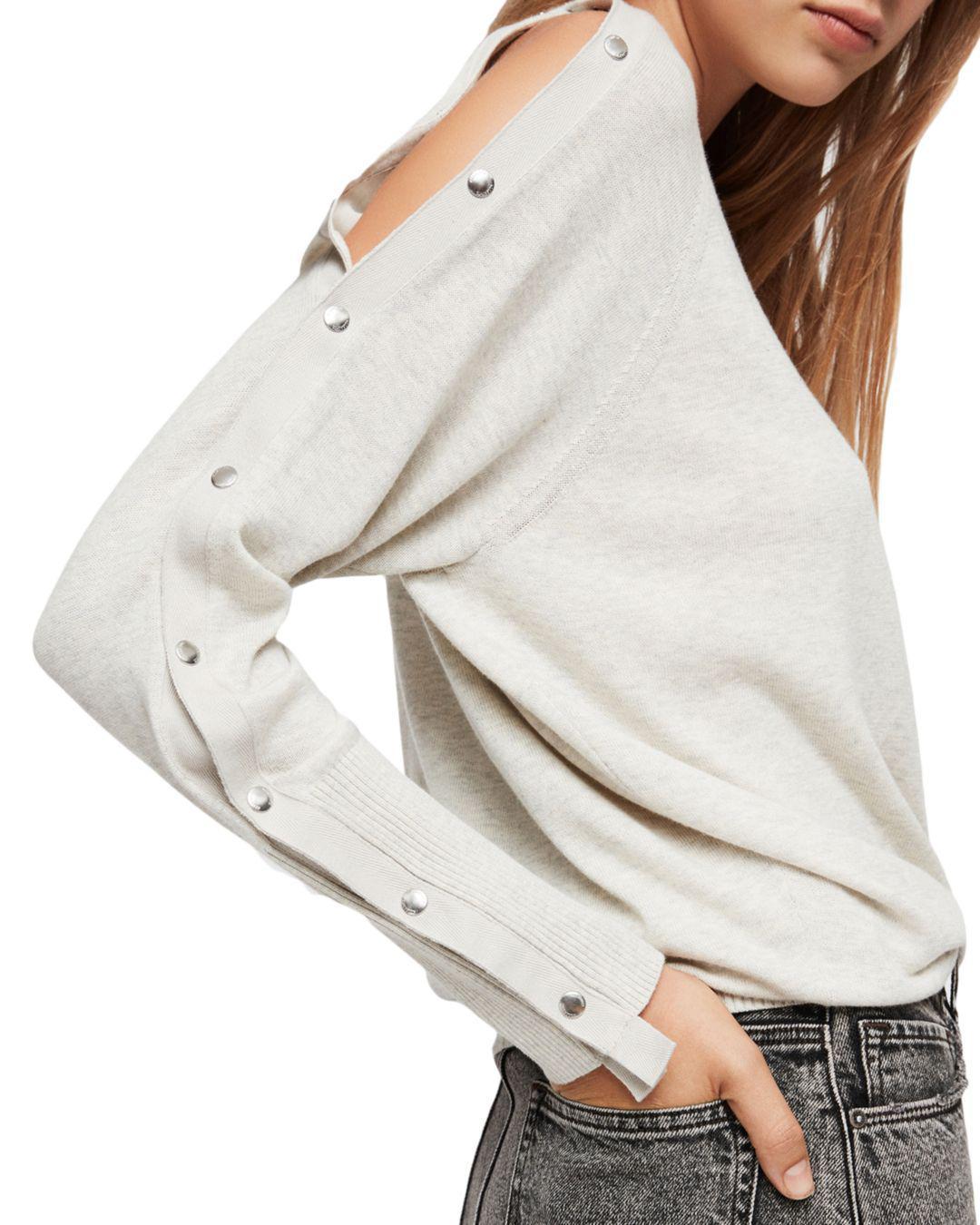 3a202ba53b3 AllSaints Suzie Snap-sleeve Sweater - Lyst