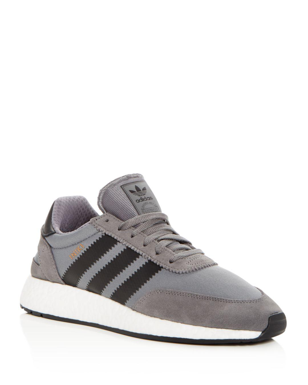 9d347f764a7 Lyst - Adidas Men s Iniki Lace Up Sneakers in Gray for Men - Save ...