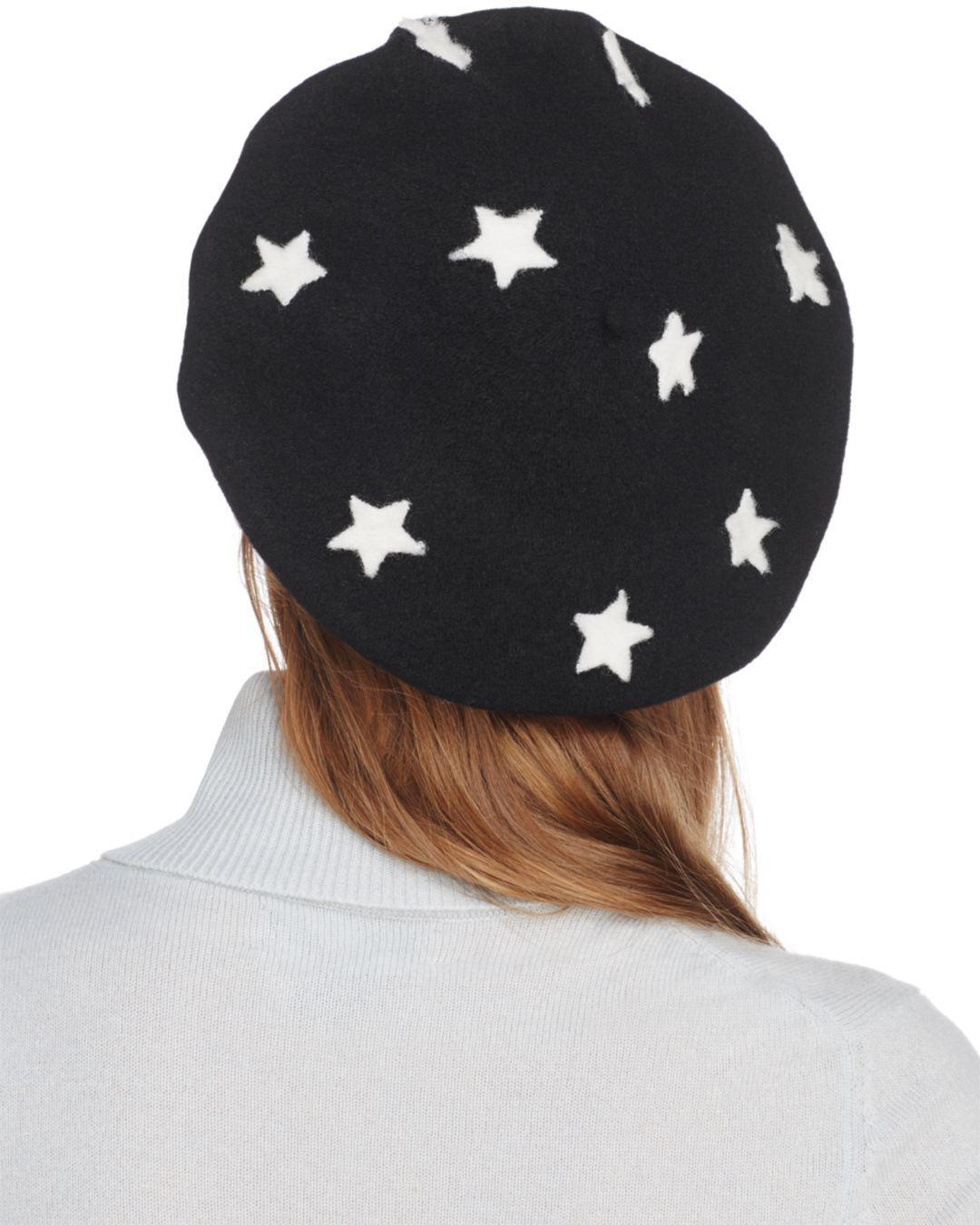 948ec4aee0110 Helene Berman Wool Star Beret - Lyst
