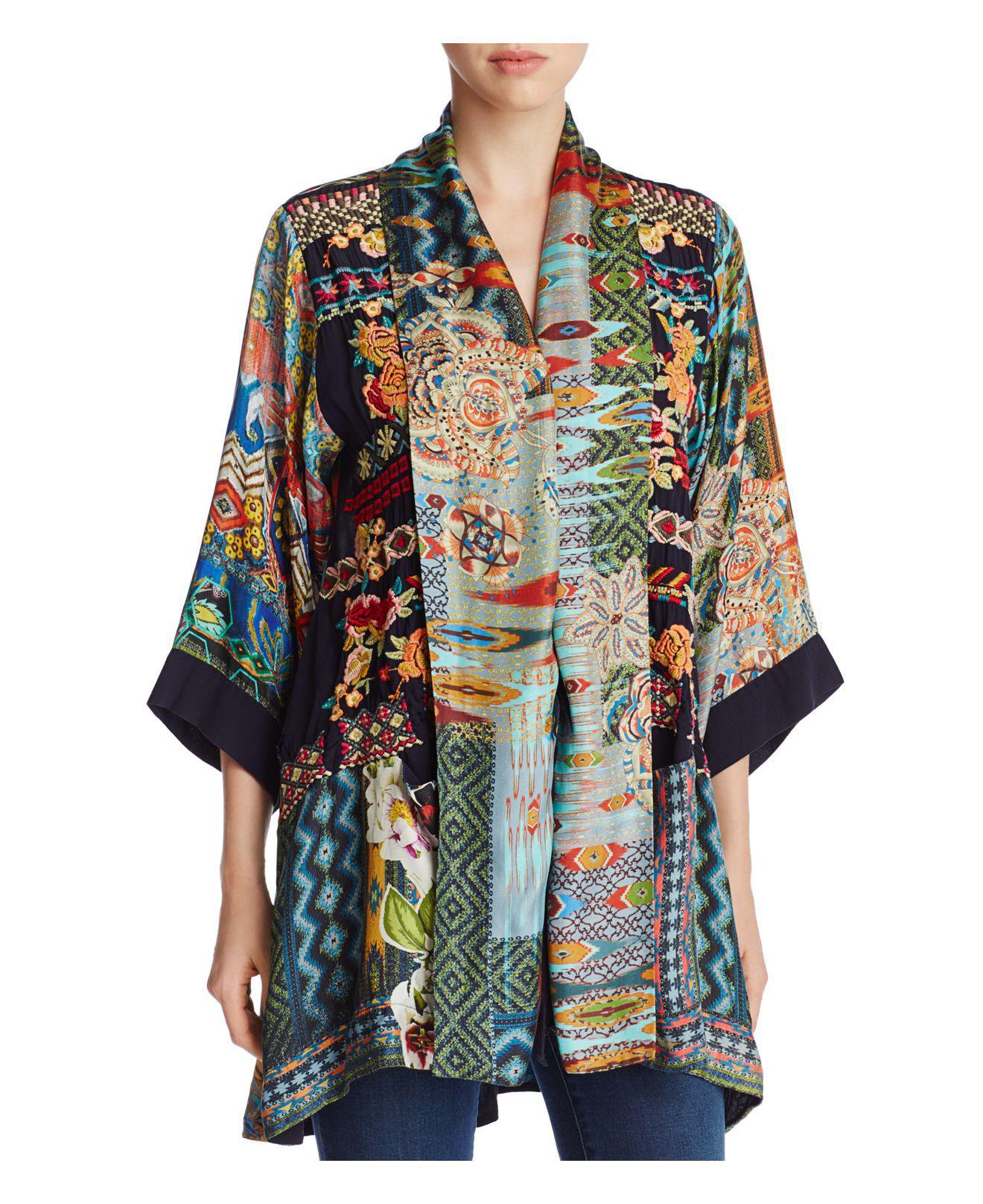 Lyst Johnny Was Koben Embroidered Silk Kimono