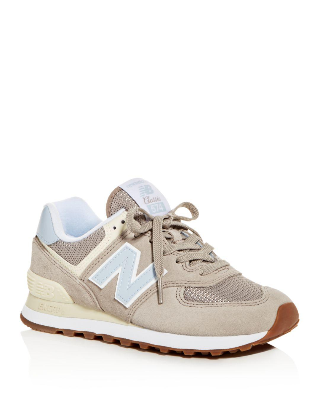 check out db6c0 842f0 New Balance Women s Classic 574 Summer Dusk Nubuck Leather Lace Up ...