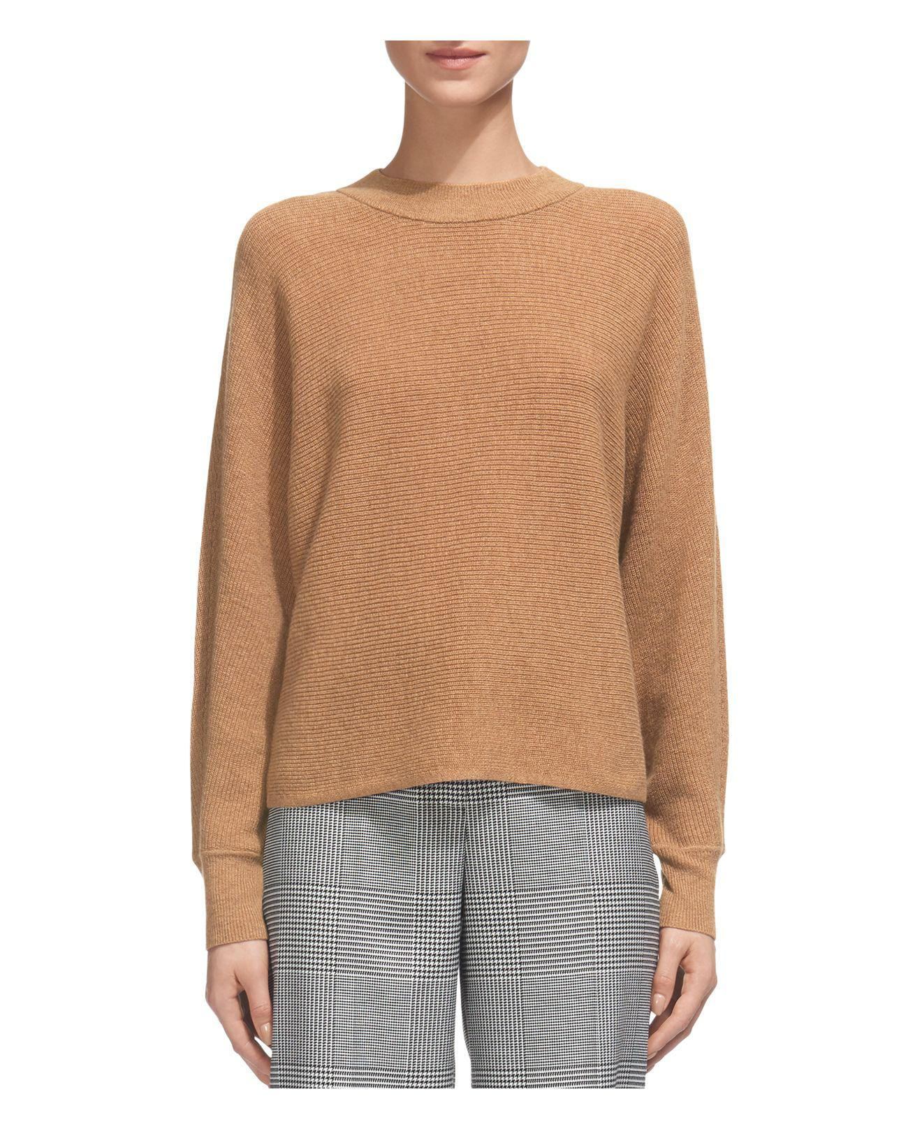 Whistles Dolman Wool & Cashmere Horizontal-ribbed Sweater in ...
