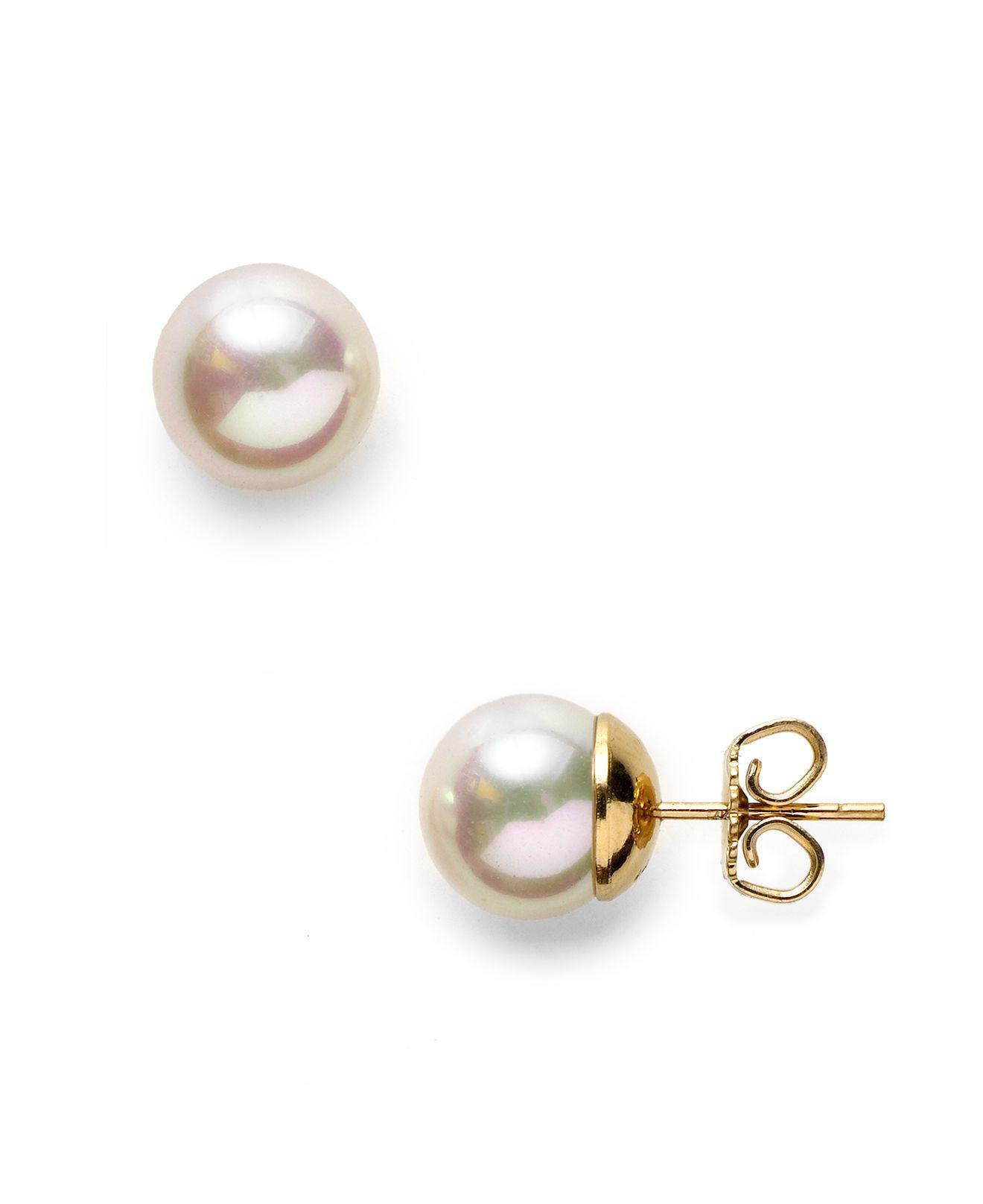 Majorica Pearl Double-Drop Pierced Earrings SF3OD