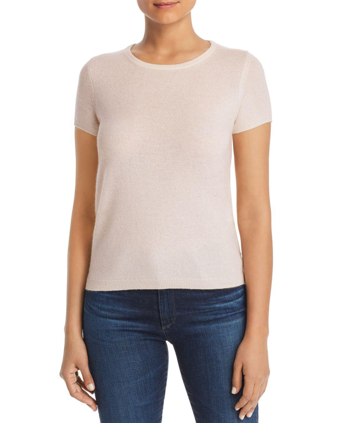 C By Bloomingdale S Short Sleeve Cashmere Sweater in Pink - Lyst c830056a0
