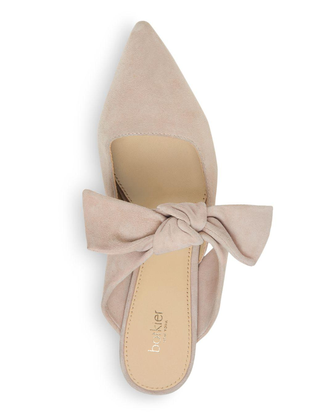 a43b00c56d Botkier Women's Pina Bow-accented Suede Kitten Heel Mules - Lyst