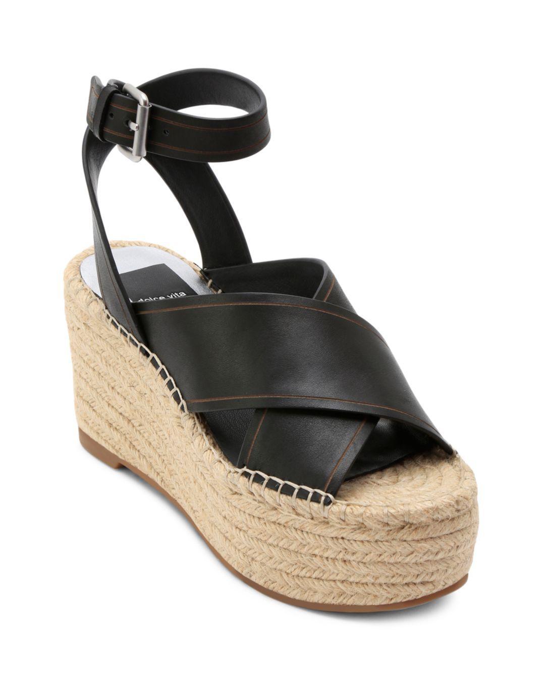 5aa19f72f34 Lyst - Dolce Vita Women s Carsie Platform Espadrille Sandals in Black