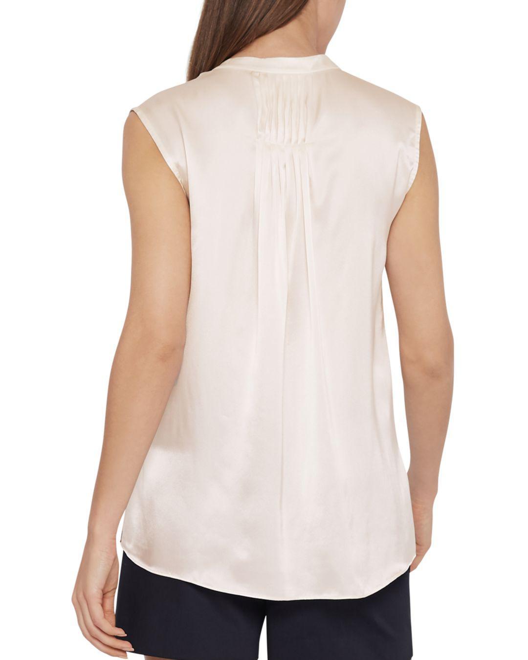 c7052b55c5d625 Reiss Lila Silk Top in White - Lyst