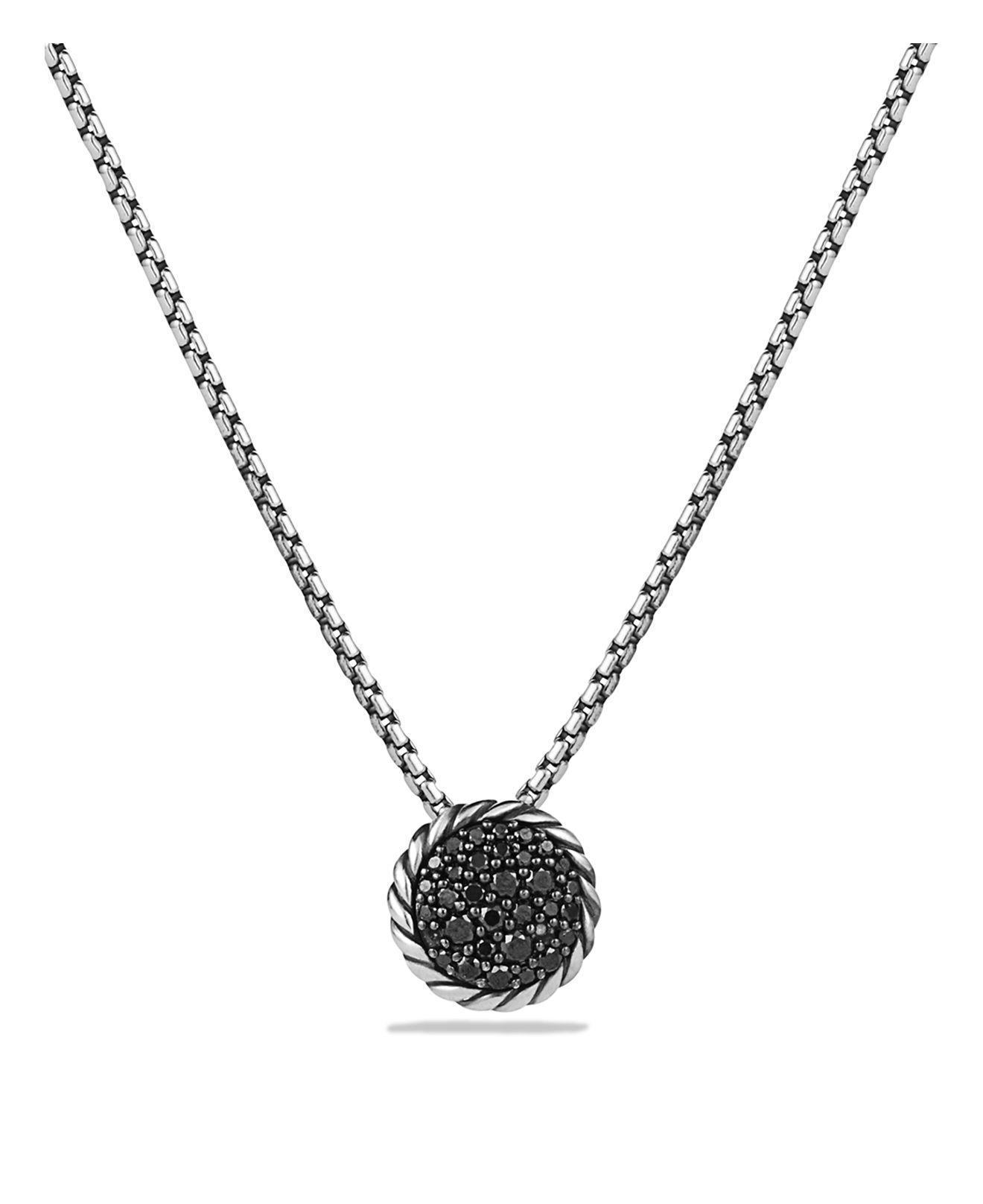 David yurman Ch¢telaine Pavé Pendant Necklace With Black Diamonds