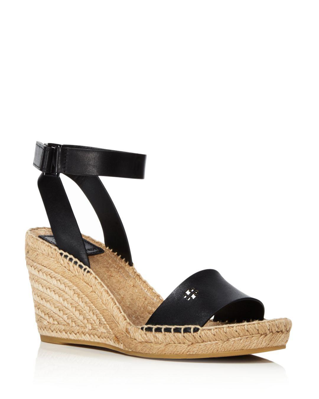 f2d861363c26cf Tory Burch Women s Bima Espadrille Platform Wedge Sandals in Black ...