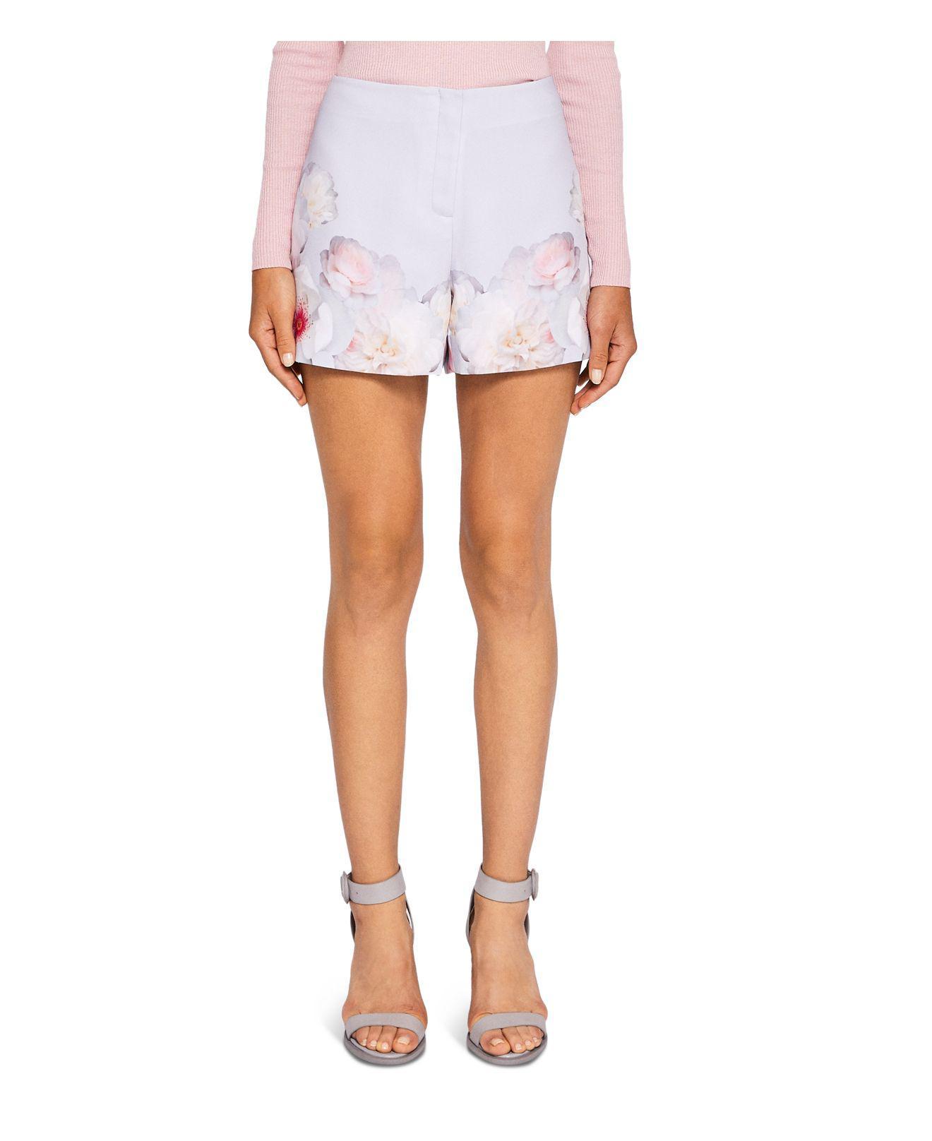 08891e141 Lyst - Ted Baker Kellila Chelsea Flower Printed Shorts in Gray