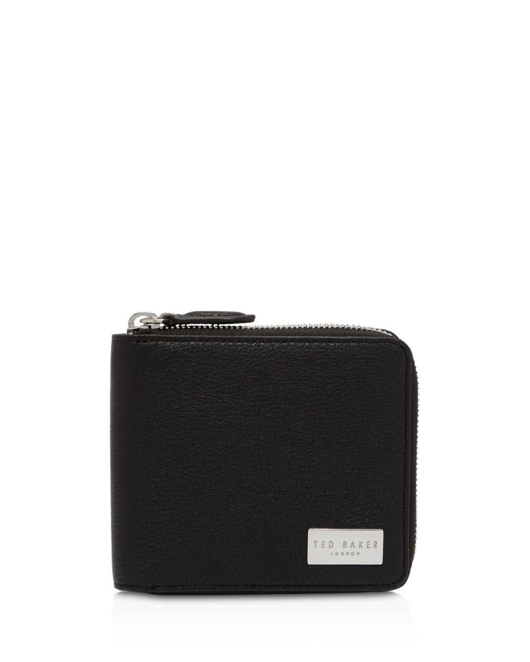edce19a5df99e Lyst - Ted Baker Baits Zip Coin Wallet in Black for Men