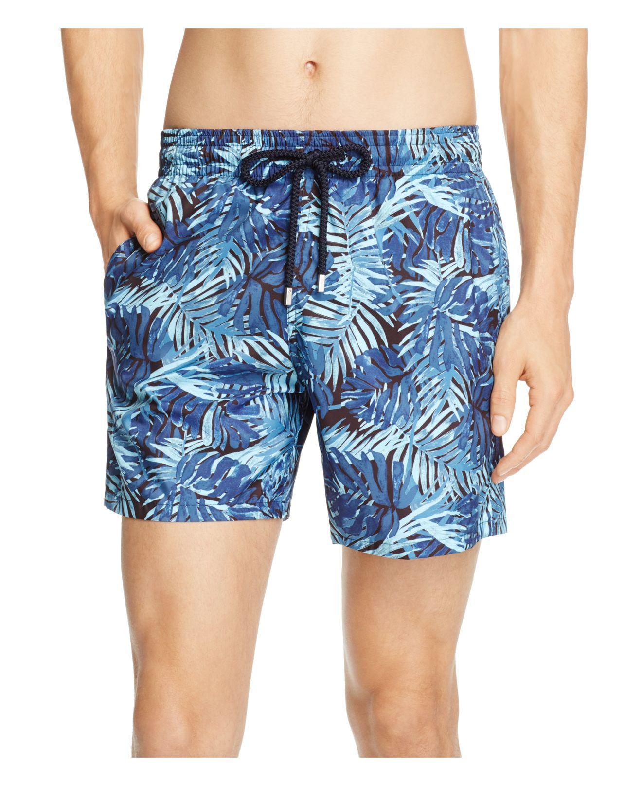 461e2ed1eb Lyst - Vilebrequin Mahina Madrague Printed Swim Trunks in Blue for Men