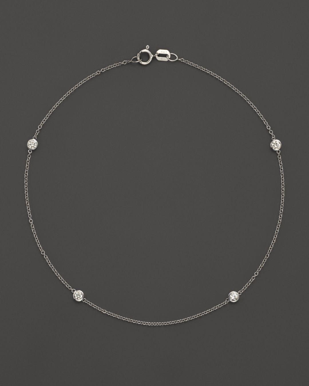 Bloomingdale S Women Diamond Bezel Ankle Bracelet Set In 14k White Gold