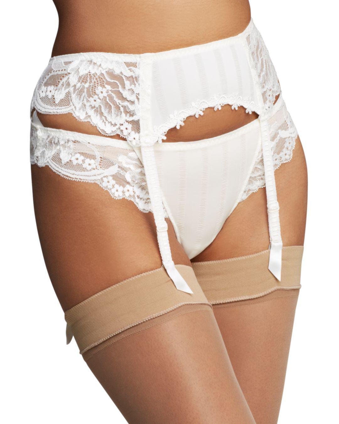 9f270c6f515 Simone Perele Simone Pérèle Amour Suspender Belt in White - Lyst