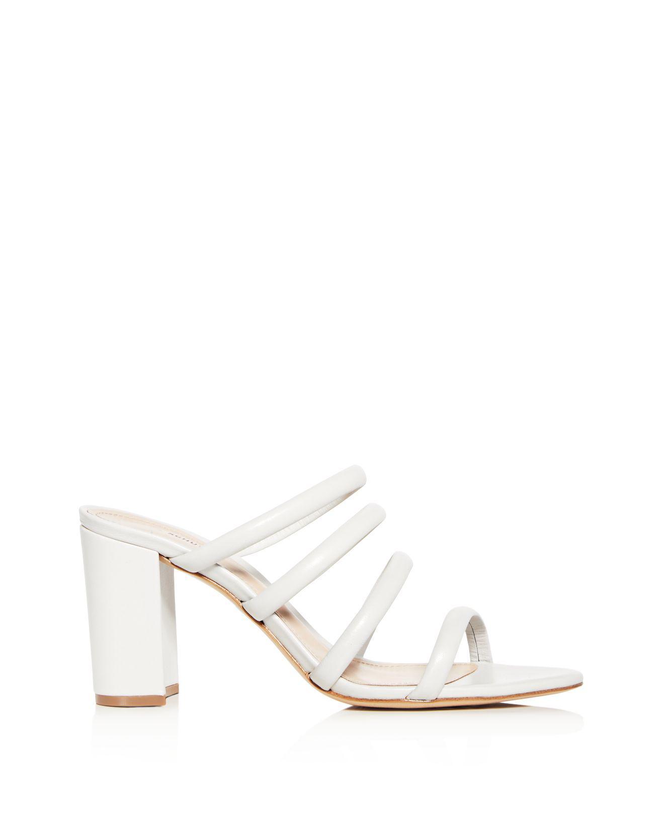 Schutz Women's Felisa Leather High Block-Heel Sandals lw0UI51t