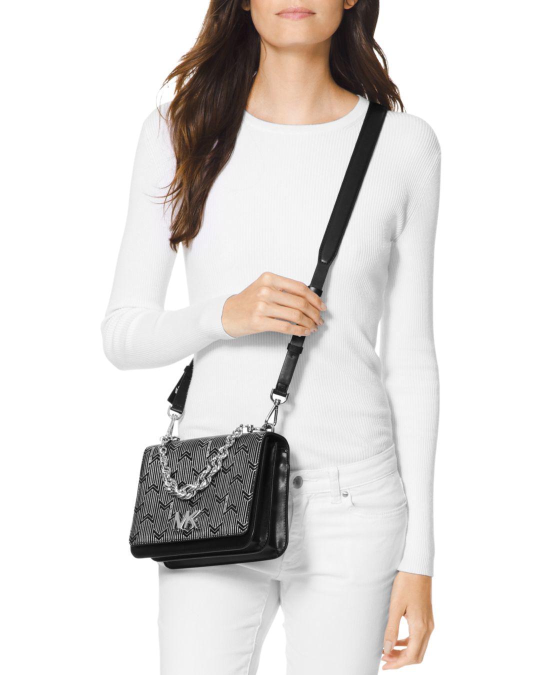 e3f7d802e3dc Lyst - MICHAEL Michael Kors Mott Leather Shoulder Bag in Metallic - Save 52%