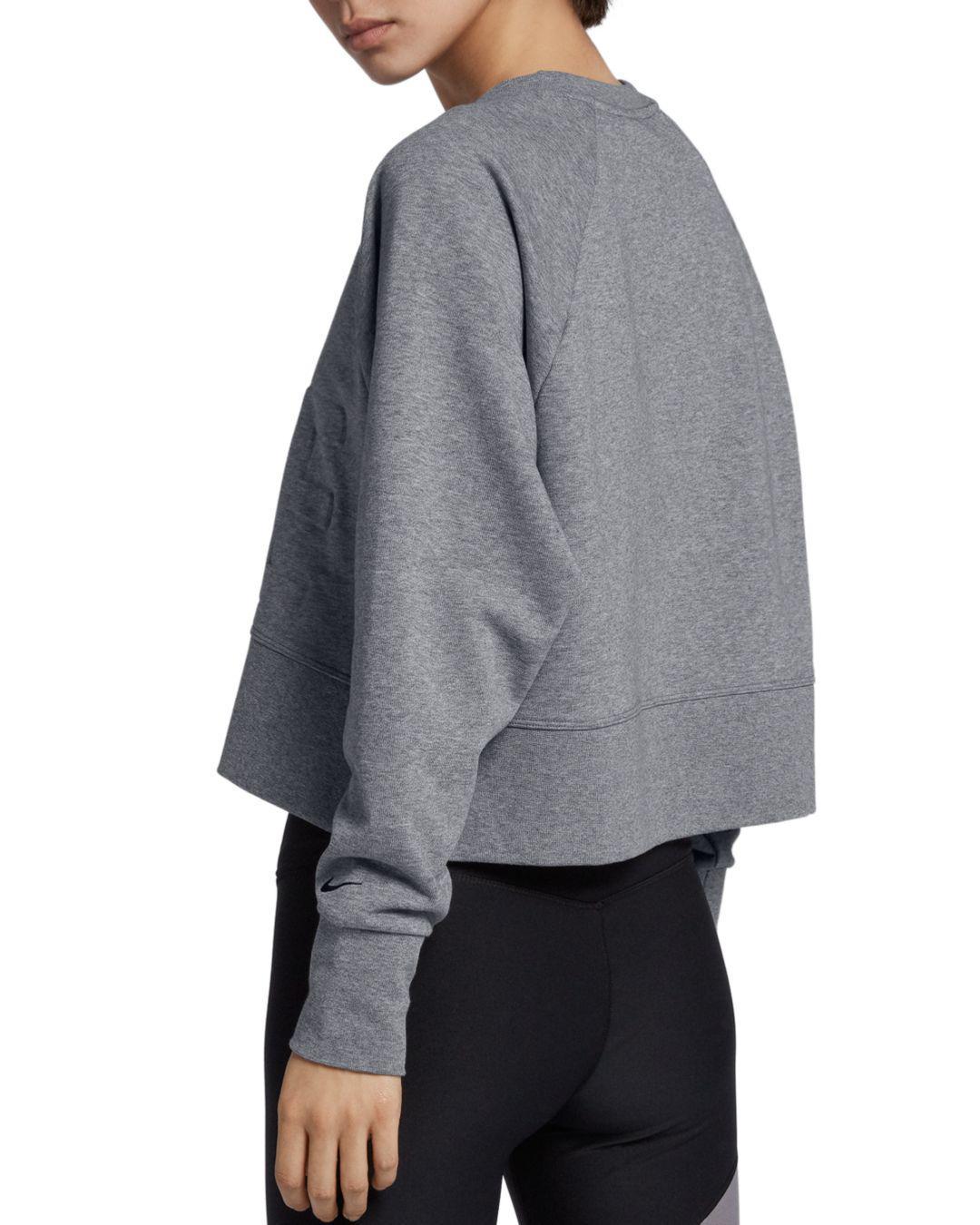 b8b5e2629e320 Lyst - Nike Versa Long-sleeve Training Top in Gray
