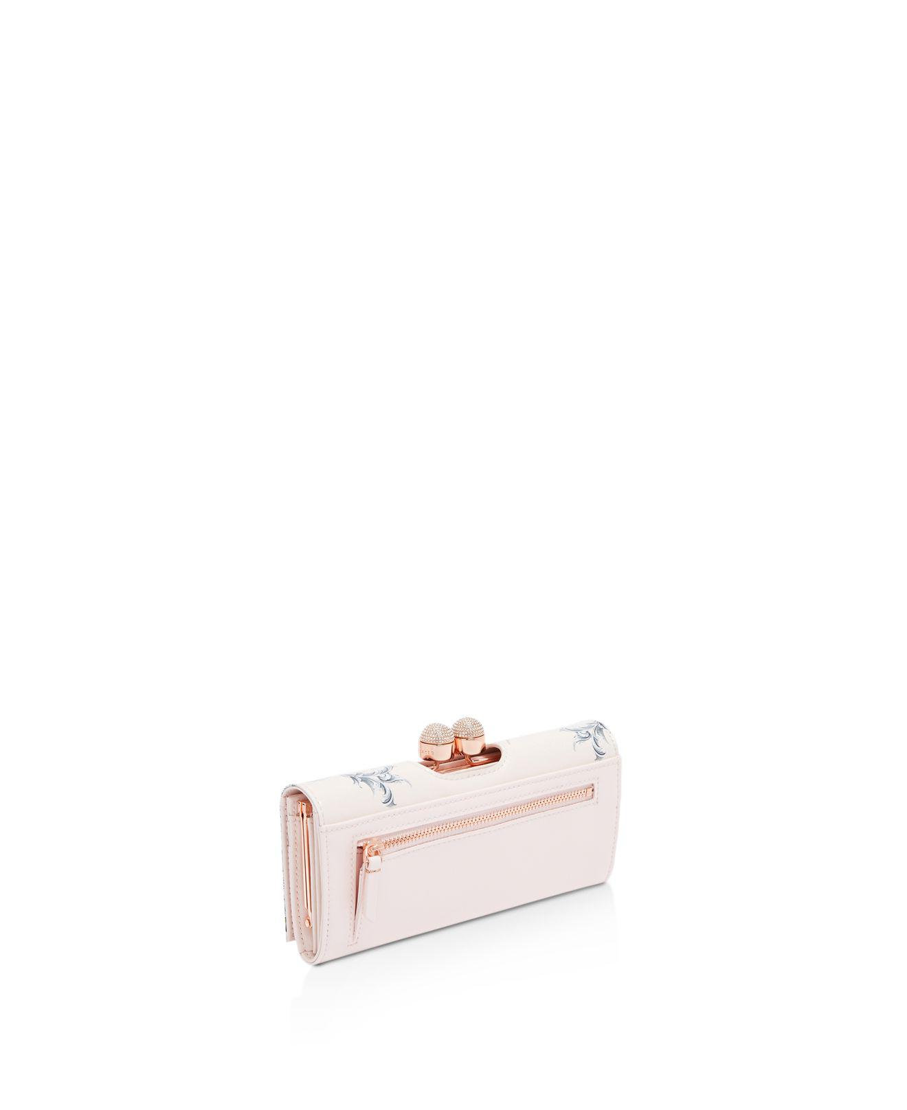 f54a892444d Ted Baker Maycie Enchanted Dream Leather Matinee Wallet in Pink - Lyst