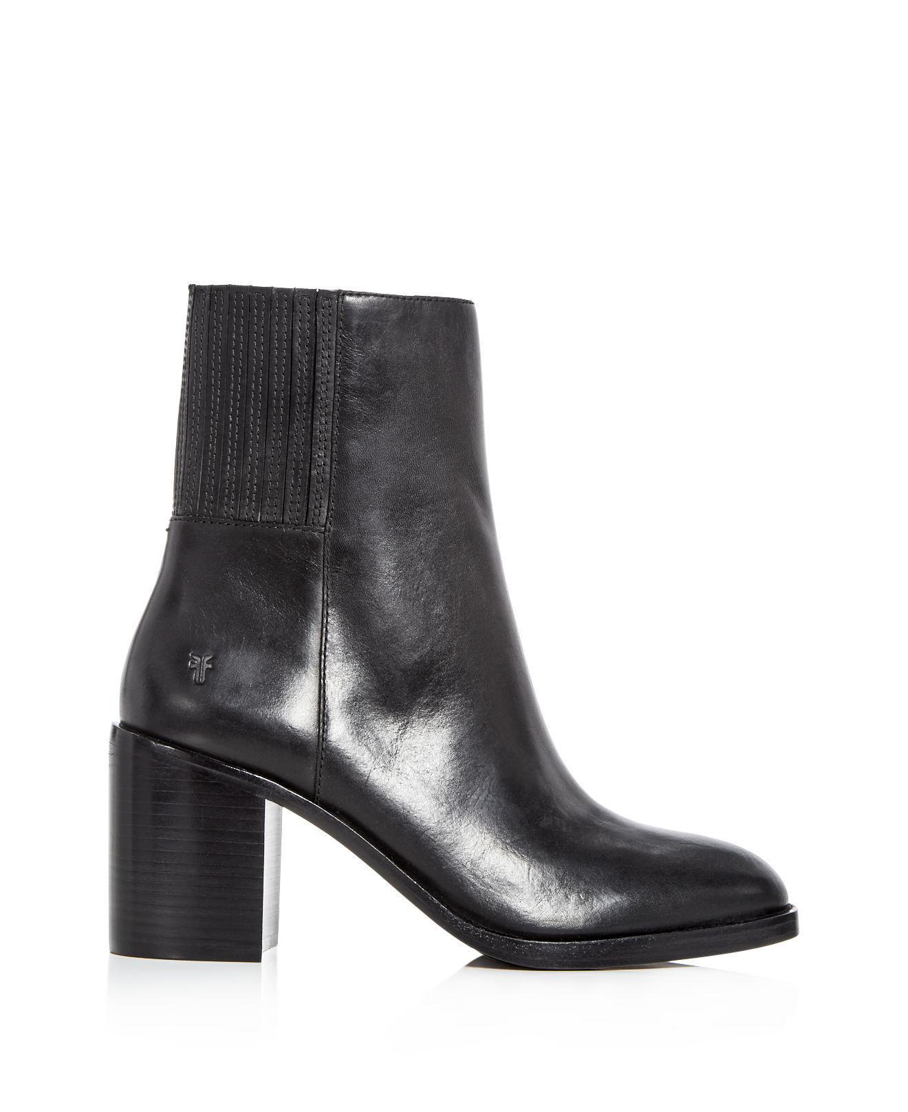 Frye Women's Pia Leather High Block Heel Booties ZMM3is4MK4