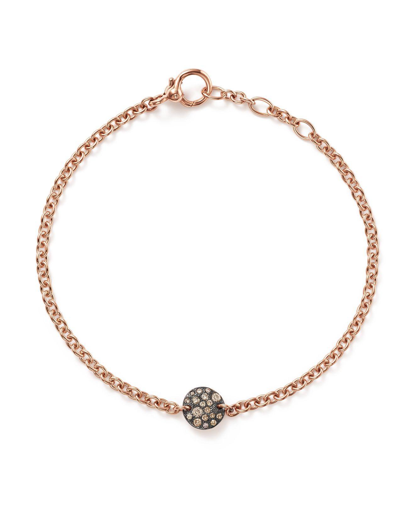 POMELLATO Sabbia Brown Diamond Station Bracelet in 18K Rose Gold d2KlXpr0